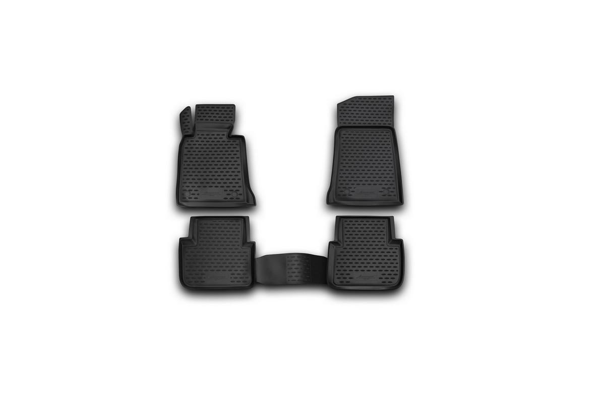 Набор автомобильных ковриков Novline-Autofamily для BMW 3-series E46 1998-2005, в салон, 4 штDH2400D/ORНабор автомобильных ковриков Novline-Autofamily, изготовленный из полиуретана, состоит из 4 ковриков, которые учитывают все особенности каждой модели автомобиля и полностью повторяют контуры пола. Полиуретановые автомобильные коврики для салона произведены из высококачественного материала, который держит форму, прочный и не пачкает обувь. Коврики в салон не только улучшат внешний вид салона вашего автомобиля, но и надежно уберегут его от пыли, грязи и сырости, а значит, защитят кузов от коррозии. Полиуретановые коврики для автомобиля гладкие, приятные и не пропускают влагу. Ковры для автомобилей надежно крепятся на полу и не скользят, что очень важно во время движения. Чистятся коврики очень просто: как при помощи автомобильного пылесоса, так и различными моющими средствами. Набор подходит для BMW 3-series E46 1998-2005 годов выпуска.