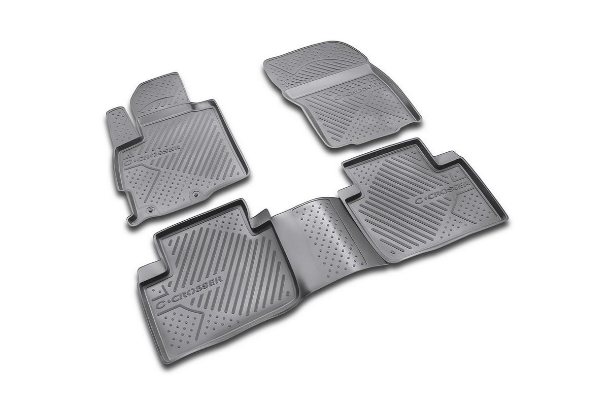 Набор автомобильных ковриков Novline-Autofamily для Citroen C-Crosser 2007-, в салон, 4 шт. NLC.10.14.210k98298123_черныйНабор автомобильных ковриков Novline-Autofamily, изготовленный из полиуретана, состоит из 4 ковриков, которые учитывают все особенности каждой модели автомобиля и полностью повторяют контуры пола. Полиуретановые автомобильные коврики для салона произведены из высококачественного материала, который держит форму, прочный и не пачкает обувь. Коврики в салон не только улучшат внешний вид салона вашего автомобиля, но и надежно уберегут его от пыли, грязи и сырости, а значит, защитят кузов от коррозии. Полиуретановые коврики для автомобиля гладкие, приятные и не пропускают влагу. Ковры для автомобилей надежно крепятся на полу и не скользят, что очень важно во время движения. Чистятся коврики очень просто: как при помощи автомобильного пылесоса, так и различными моющими средствами. Набор подходит для Citroen C-Crosser с 2007 года выпуска.