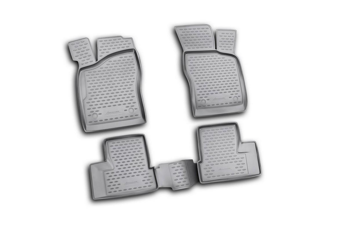 Набор автомобильных ковриков Novline-Autofamily для Daewoo Nexia 2008-, в салон, цвет: черный, 4 шт300240Набор автомобильных ковриков Novline-Autofamily, изготовленный из полиуретана, состоит из 4 ковриков, которые учитывают все особенности каждой модели автомобиля и полностью повторяют контуры пола. Полиуретановые автомобильные коврики для салона произведены из высококачественного материала, который держит форму, прочный и не пачкает обувь. Коврики в салон не только улучшат внешний вид салона вашего автомобиля, но и надежно уберегут его от пыли, грязи и сырости, а значит, защитят кузов от коррозии. Полиуретановые коврики для автомобиля гладкие, приятные и не пропускают влагу. Ковры для автомобилей надежно крепятся на полу и не скользят, что очень важно во время движения. Чистятся коврики очень просто: как при помощи автомобильного пылесоса, так и различными моющими средствами. Набор подходит для Daewoo Nexia с 2008 года выпуска.