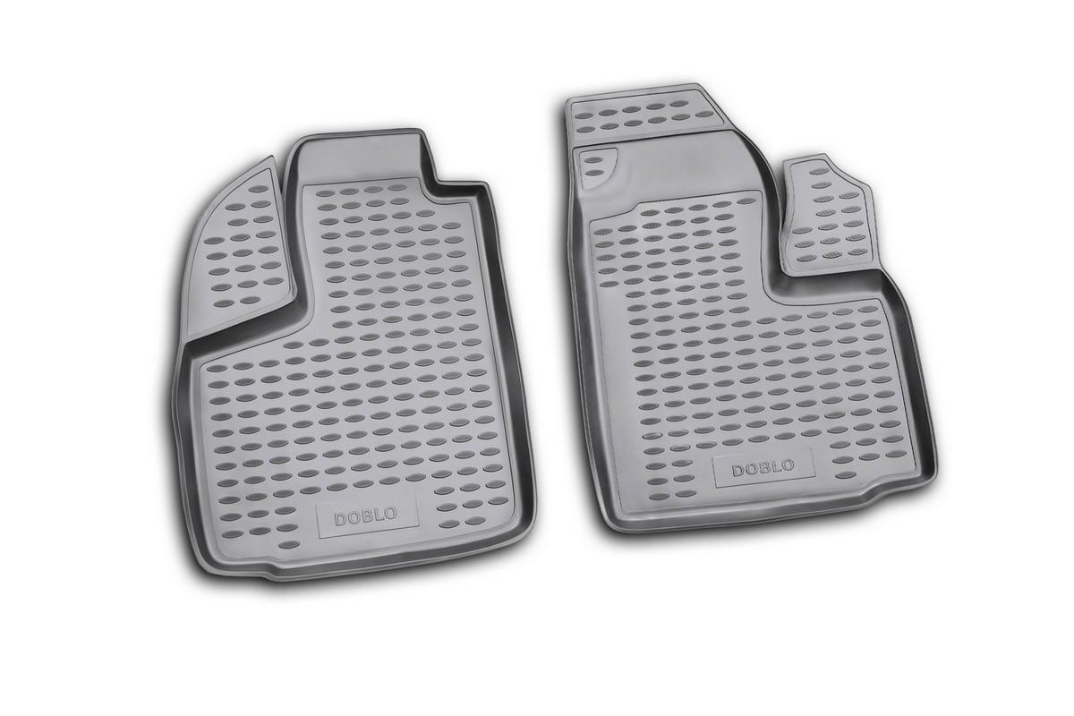 Набор автомобильных ковриков Novline-Autofamily для Fiat Doblo Cargo 2001-, в салон, 2 штTEMP-05Набор автомобильных ковриков Novline-Autofamily, изготовленный из полиуретана, состоит из 2 ковриков, которые учитывают все особенности каждой модели автомобиля и полностью повторяют контуры пола. Полиуретановые автомобильные коврики для салона произведены из высококачественного материала, который держит форму, прочный и не пачкает обувь. Коврики в салон не только улучшат внешний вид салона вашего автомобиля, но и надежно уберегут его от пыли, грязи и сырости, а значит, защитят кузов от коррозии. Полиуретановые коврики для автомобиля гладкие, приятные и не пропускают влагу. Ковры для автомобилей надежно крепятся на полу и не скользят, что очень важно во время движения. Чистятся коврики очень просто: как при помощи автомобильного пылесоса, так и различными моющими средствами. Набор подходит для Fiat Doblo Cargo с 2001 года выпуска.