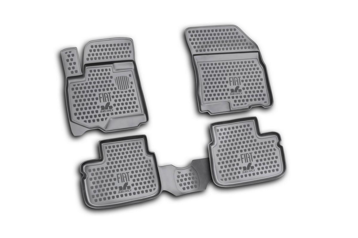 Набор автомобильных ковриков Novline-Autofamily для Fiat Sedici 2006-, в салон, 4 шт. NLC.15.25.210NLC.63.04.210Набор автомобильных ковриков Novline-Autofamily, изготовленный из полиуретана, состоит из 4 ковриков, которые учитывают все особенности каждой модели автомобиля и полностью повторяют контуры пола. Полиуретановые автомобильные коврики для салона произведены из высококачественного материала, который держит форму, прочный и не пачкает обувь. Коврики в салон не только улучшат внешний вид салона вашего автомобиля, но и надежно уберегут его от пыли, грязи и сырости, а значит, защитят кузов от коррозии. Полиуретановые коврики для автомобиля гладкие, приятные и не пропускают влагу. Ковры для автомобилей надежно крепятся на полу и не скользят, что очень важно во время движения. Чистятся коврики очень просто: как при помощи автомобильного пылесоса, так и различными моющими средствами. Набор подходит для Fiat Sedici с 2006 года выпуска.