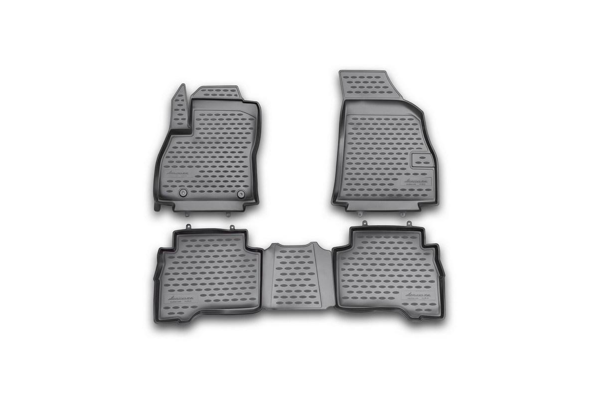 Набор автомобильных ковриков Novline-Autofamily для Fiat Florino 2008-, в салон, 4 штNLC.47.17.B11Набор автомобильных ковриков Novline-Autofamily, изготовленный из полиуретана, состоит из 4 ковриков, которые учитывают все особенности каждой модели автомобиля и полностью повторяют контуры пола. Полиуретановые автомобильные коврики для салона произведены из высококачественного материала, который держит форму, прочный и не пачкает обувь. Коврики в салон не только улучшат внешний вид салона вашего автомобиля, но и надежно уберегут его от пыли, грязи и сырости, а значит, защитят кузов от коррозии. Полиуретановые коврики для автомобиля гладкие, приятные и не пропускают влагу. Ковры для автомобилей надежно крепятся на полу и не скользят, что очень важно во время движения. Чистятся коврики очень просто: как при помощи автомобильного пылесоса, так и различными моющими средствами. Набор подходит для Fiat Florino с 2008 года выпуска.
