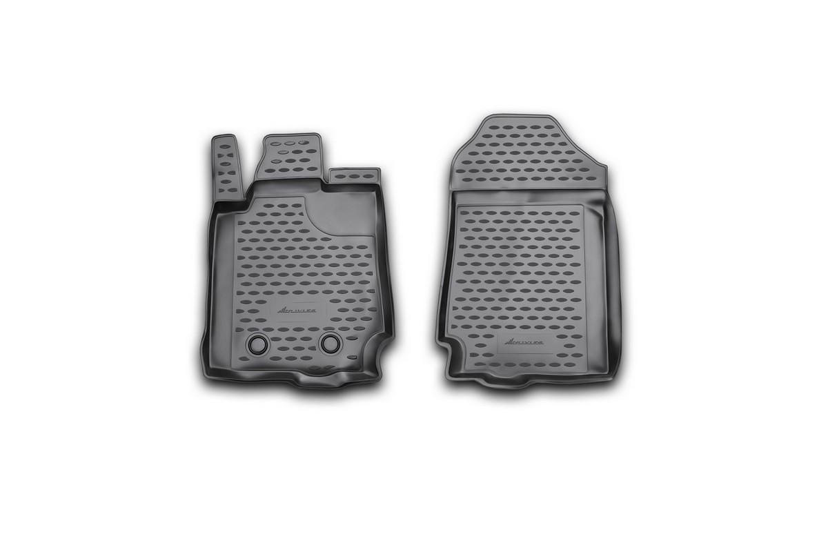 Набор автомобильных ковриков Novline-Autofamily для Ford Ranger, 2 doors 2011-, в салон, 4 шт. NLC.16.35.210kNLC.16.35.210kНабор автомобильных ковриков Novline-Autofamily, изготовленный из полиуретана, состоит из 4 ковриков, которые учитывают все особенности каждой модели автомобиля и полностью повторяют контуры пола. Полиуретановые автомобильные коврики для салона произведены из высококачественного материала, который держит форму, прочный и не пачкает обувь. Коврики в салон не только улучшат внешний вид салона вашего автомобиля, но и надежно уберегут его от пыли, грязи и сырости, а значит, защитят кузов от коррозии. Полиуретановые коврики для автомобиля гладкие, приятные и не пропускают влагу. Ковры для автомобилей надежно крепятся на полу и не скользят, что очень важно во время движения. Чистятся коврики очень просто: как при помощи автомобильного пылесоса, так и различными моющими средствами. Набор подходит для Ford Ranger, 2 doors с 2011 года выпуска.Уважаемые клиенты!Обращаем ваше внимание, на тот факт, что коврики имеют форму, соответствующую модели данного автомобиля. Также обращаем внимание, что в комплект входят 4 коврика. Фото служит для визуального восприятия товара.
