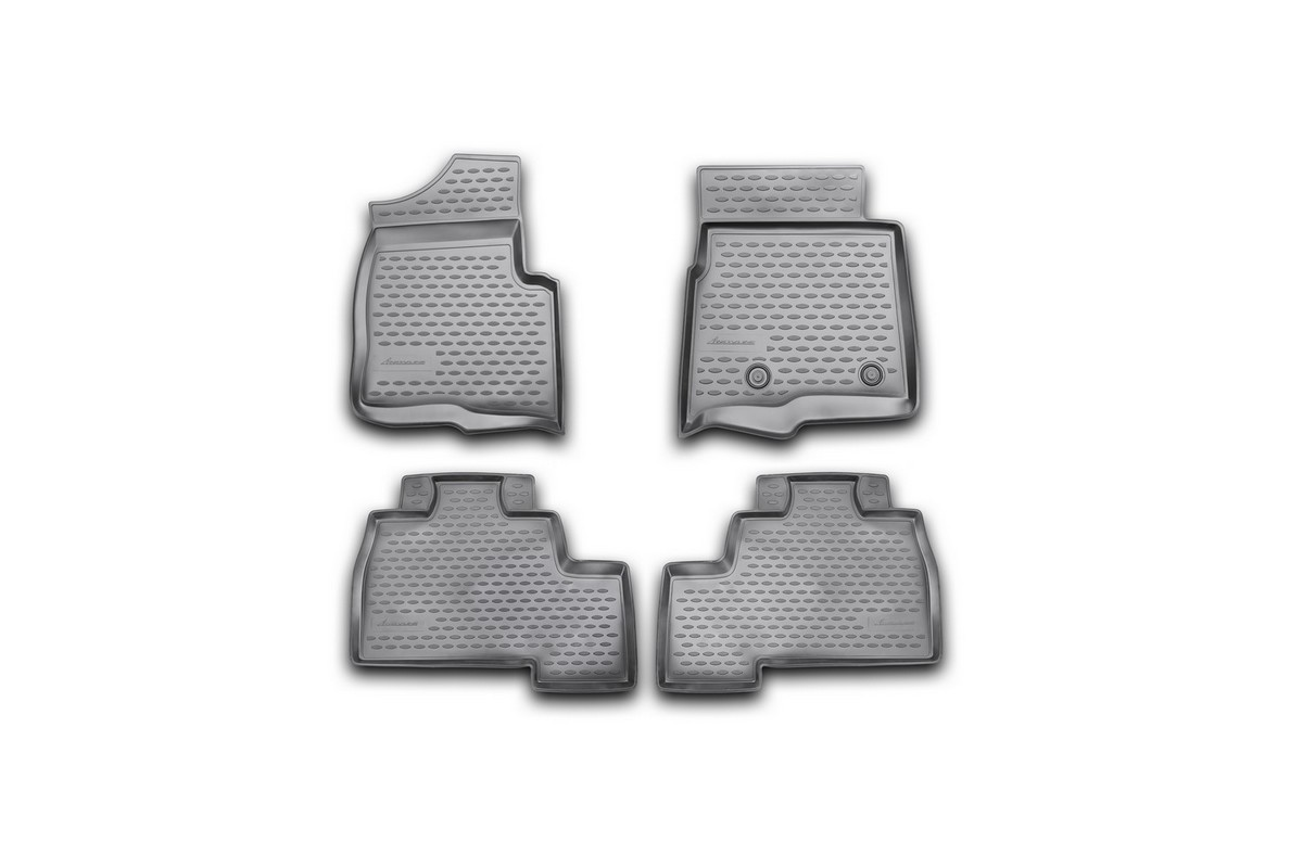 Набор автомобильных ковриков Novline-Autofamily для Ford F-150 Super Crew 2009-2014, 4 штFS-80264Набор автомобильных ковриков Novline-Autofamily, изготовленный из полиуретана, состоит из 4 ковриков, которые учитывают все особенности каждой модели автомобиля и полностью повторяют контуры пола. Полиуретановые автомобильные коврики для салона произведены из высококачественного материала, который держит форму, прочный и не пачкает обувь. Коврики в салон не только улучшат внешний вид салона вашего автомобиля, но и надежно уберегут его от пыли, грязи и сырости, а значит, защитят кузов от коррозии. Полиуретановые коврики для автомобиля гладкие, приятные и не пропускают влагу. Ковры для автомобилей надежно крепятся на полу и не скользят, что очень важно во время движения. Чистятся коврики очень просто: как при помощи автомобильного пылесоса, так и различными моющими средствами. Набор подходит для Ford F-150 Super Crew 2009-2014 годов выпуска.