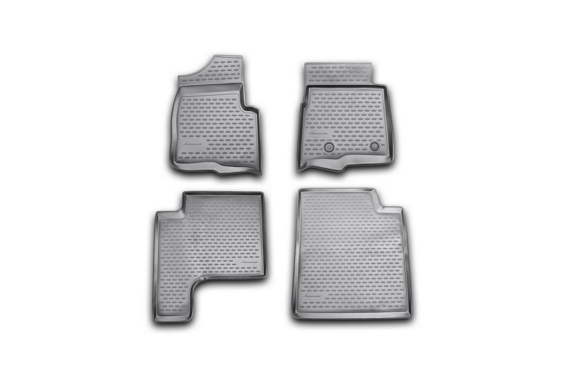 Набор автомобильных ковриков Novline-Autofamily для Ford F150 Super Cab 2009-2013, в салон, 4 штTEMP-05Набор автомобильных ковриков Novline-Autofamily, изготовленный из полиуретана, состоит из 4 ковриков, которые учитывают все особенности каждой модели автомобиля и полностью повторяют контуры пола. Полиуретановые автомобильные коврики для салона произведены из высококачественного материала, который держит форму, прочный и не пачкает обувь. Коврики в салон не только улучшат внешний вид салона вашего автомобиля, но и надежно уберегут его от пыли, грязи и сырости, а значит, защитят кузов от коррозии. Полиуретановые коврики для автомобиля гладкие, приятные и не пропускают влагу. Ковры для автомобилей надежно крепятся на полу и не скользят, что очень важно во время движения. Чистятся коврики очень просто: как при помощи автомобильного пылесоса, так и различными моющими средствами. Набор подходит для Ford F150 Super Cab 2009-2013 годов выпуска.