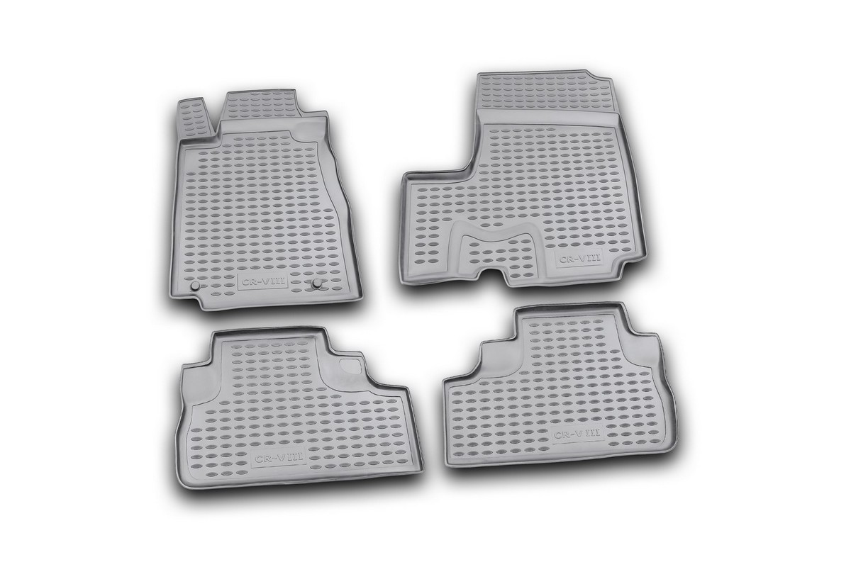 Коврики в салон автомобиля Novline-Autofamily для Honda CR -V III, 2007 -, с сабвуфером, 4 шт. Nlc.18.16.210kВетерок 2ГФКоврики Novline-Autofamily улучшат внешний вид салона автомобиля и надежно уберегут его от пыли, грязи и сырости, а значит, защитят кузов от коррозии. Полиуретановые коврики гладкие, приятные и не пропускает влагу. Полиуретановые автомобильные коврики произведены из высококачественного материала, который держит форму и не пачкает обувь. Коврики надежно крепятся на полу и не скользят, что очень важно во время движения, особенно для водителя. Изделия из полиуретана надежно удерживают грязь и влагу, при этом всегда выглядят довольно опрятно. И чистятся они очень просто: как при помощи автомобильного пылесоса, так и различными моющими средствами.