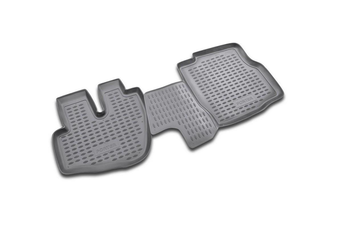 Коврики в салон автомобиля Novline-Autofamily для Hyundai Porter, 1996 -, 2 штDH2400D/ORКоврики Novline-Autofamily улучшат внешний вид салона автомобиля и надежно уберегут его от пыли, грязи и сырости, а значит, защитят кузов от коррозии. Полиуретановые коврики гладкие, приятные и не пропускает влагу. Полиуретановые автомобильные коврики произведены из высококачественного материала, который держит форму и не пачкает обувь. Коврики надежно крепятся на полу и не скользят, что очень важно во время движения, особенно для водителя. Изделия из полиуретана надежно удерживают грязь и влагу, при этом всегда выглядят довольно опрятно. И чистятся они очень просто: как при помощи автомобильного пылесоса, так и различными моющими средствами.