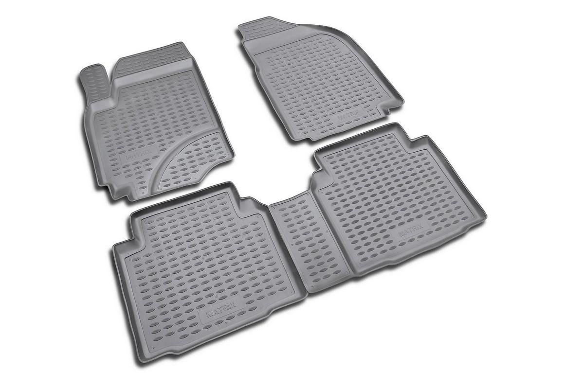Коврики в салон автомобиля Novline-Autofamily для Hyundai Matrix, 2001 -, 4 шт300159Коврики Novline-Autofamily улучшат внешний вид салона автомобиля и надежно уберегут его от пыли, грязи и сырости, а значит, защитят кузов от коррозии. Полиуретановые коврики гладкие, приятные и не пропускает влагу. Полиуретановые автомобильные коврики произведены из высококачественного материала, который держит форму и не пачкает обувь. Коврики надежно крепятся на полу и не скользят, что очень важно во время движения, особенно для водителя. Изделия из полиуретана надежно удерживают грязь и влагу, при этом всегда выглядят довольно опрятно. И чистятся они очень просто: как при помощи автомобильного пылесоса, так и различными моющими средствами.