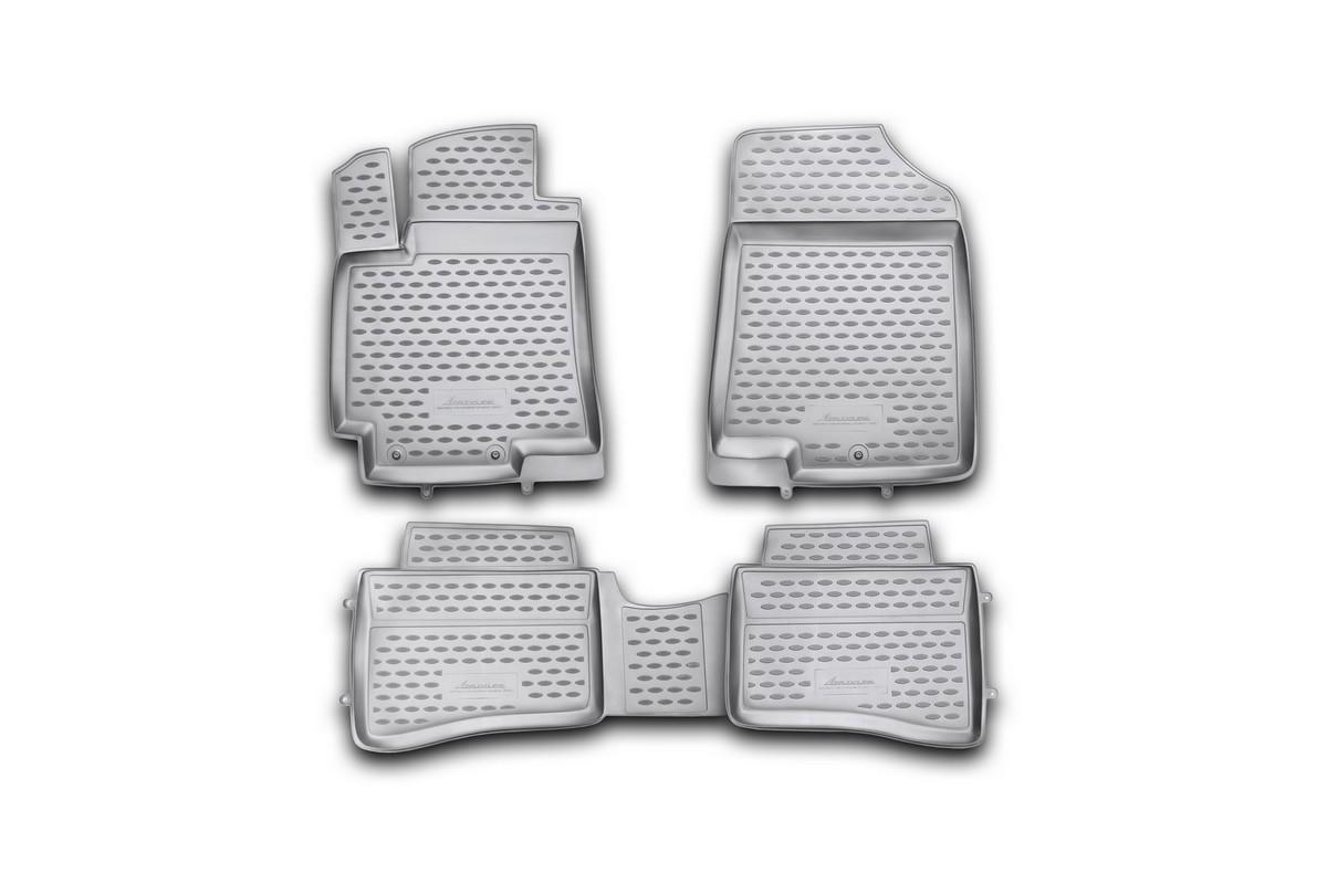 Набор автомобильных ковриков Novline-Autofamily для Hyundai Solaris 2010-2014, хэтчбек, в салон, 4 штDH2400D/ORНабор автомобильных ковриков Novline-Autofamily, изготовленный из полиуретана, состоит из 4 ковриков, которые учитывают все особенности каждой модели автомобиля и полностью повторяют контуры пола. Полиуретановые автомобильные коврики для салона произведены из высококачественного материала, который держит форму, прочный и не пачкает обувь. Коврики в салон не только улучшат внешний вид салона вашего автомобиля, но и надежно уберегут его от пыли, грязи и сырости, а значит, защитят кузов от коррозии. Полиуретановые коврики для автомобиля гладкие, приятные и не пропускают влагу. Ковры для автомобилей надежно крепятся на полу и не скользят, что очень важно во время движения. Чистятся коврики очень просто: как при помощи автомобильного пылесоса, так и различными моющими средствами. Набор подходит для Hyundai Solaris хэтчбек 2010-2014 годов выпуска.