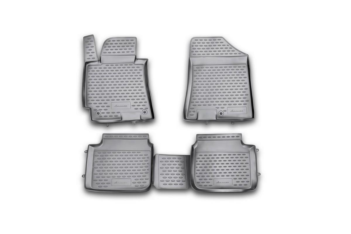 Коврики в салон автомобиля Novline-Autofamily для Hyundai Elantra MD, 2011 -, comfort/sport, 4 штCARLD00001kКоврики Novline-Autofamily улучшат внешний вид салона автомобиля и надежно уберегут его от пыли, грязи и сырости, а значит, защитят кузов от коррозии. Полиуретановые коврики гладкие, приятные и не пропускает влагу. Полиуретановые автомобильные коврики произведены из высококачественного материала, который держит форму и не пачкает обувь. Коврики надежно крепятся на полу и не скользят, что очень важно во время движения, особенно для водителя. Изделия из полиуретана надежно удерживают грязь и влагу, при этом всегда выглядят довольно опрятно. И чистятся они очень просто: как при помощи автомобильного пылесоса, так и различными моющими средствами.