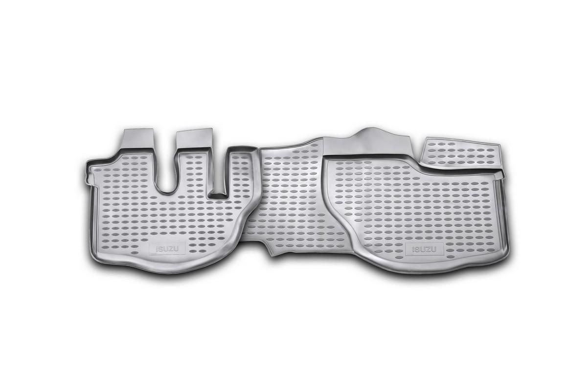 Набор автомобильных ковриков Novline-Autofamily для Isuzu NQR 71 2005-, в салон, 2 штFS-80264Набор автомобильных ковриков Novline-Autofamily, изготовленный из полиуретана, состоит из 2 ковриков, которые учитывают все особенности каждой модели автомобиля и полностью повторяют контуры пола. Полиуретановые автомобильные коврики для салона произведены из высококачественного материала, который держит форму, прочный и не пачкает обувь. Коврики в салон не только улучшат внешний вид салона вашего автомобиля, но и надежно уберегут его от пыли, грязи и сырости, а значит, защитят кузов от коррозии. Полиуретановые коврики для автомобиля гладкие, приятные и не пропускают влагу. Ковры для автомобилей надежно крепятся на полу и не скользят, что очень важно во время движения. Чистятся коврики очень просто: как при помощи автомобильного пылесоса, так и различными моющими средствами. Набор подходит для Isuzu NQR 71 с 2005 года выпуска.