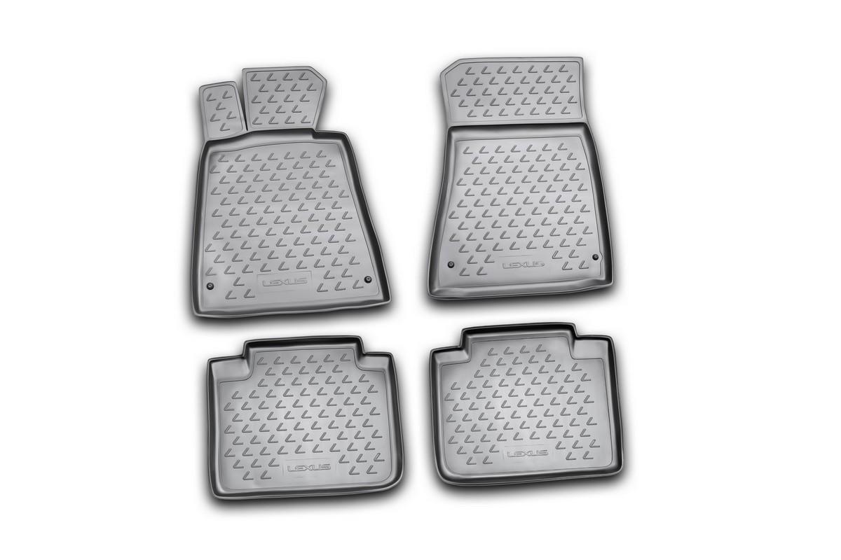 Набор автомобильных ковриков Novline-Autofamily для Lexus GS300 2008-, в салон, цвет: черный, 4 шт240000Набор автомобильных ковриков Novline-Autofamily, изготовленный из полиуретана, состоит из 4 ковриков, которые учитывают все особенности каждой модели автомобиля и полностью повторяют контуры пола. Полиуретановые автомобильные коврики для салона произведены из высококачественного материала, который держит форму, прочный и не пачкает обувь. Коврики в салон не только улучшат внешний вид салона вашего автомобиля, но и надежно уберегут его от пыли, грязи и сырости, а значит, защитят кузов от коррозии. Полиуретановые коврики для автомобиля гладкие, приятные и не пропускают влагу. Ковры для автомобилей надежно крепятся на полу и не скользят, что очень важно во время движения. Чистятся коврики очень просто: как при помощи автомобильного пылесоса, так и различными моющими средствами. Набор подходит для Lexus GS300 с 2008 года выпуска.