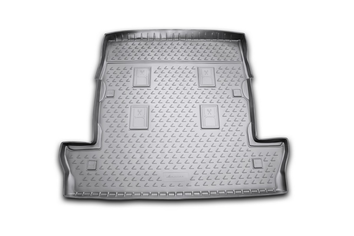 Коврик в багажник Novline-Autofamily, для LEXUS LX 570, 2007-2012, 2012-, внедорожник, длинный, 7 местВетерок 2ГФАвтомобильный коврик в багажник Novline-Autofamily позволит вам без особых усилий содержать в чистоте багажный отсек вашего авто и при этом перевозить в нем абсолютно любые грузы. Этот модельный коврик идеально подойдет по размерам багажнику вашего авто.Такой автомобильный коврик гарантированно защитит багажник вашего автомобиля от грязи, мусора и пыли, которые постоянно скапливаются в этом отсеке. А кроме того, поддон не пропускает влагу. Все это надолго убережет важную часть кузова от износа.Мыть коврик для багажника из полиуретана можно любыми чистящими средствами или просто водой. Он сделан из прочного материала, который не деформируется при механических нагрузках и устойчив даже к экстремальным температурам. А кроме того, коврик для багажника надежно фиксируется и не сдвигается во время поездки - это дополнительная гарантия сохранности вашего багажа.