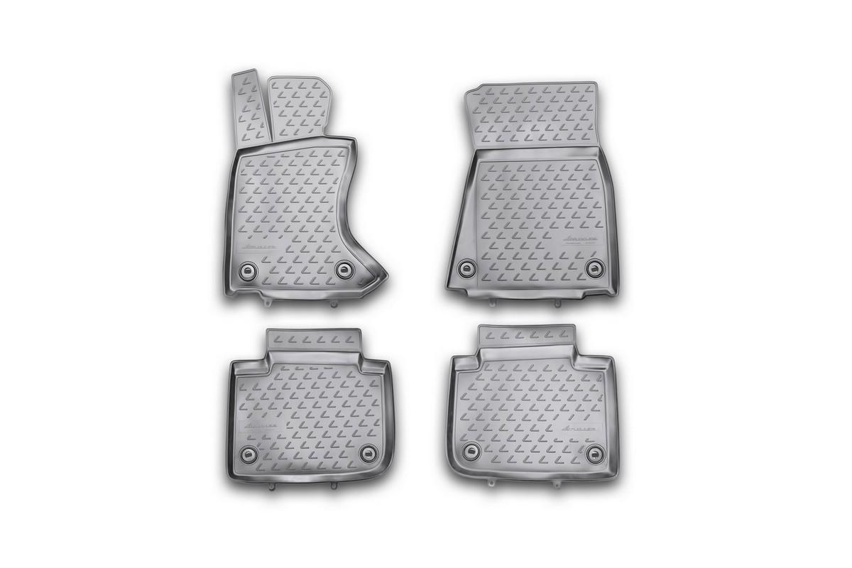 Набор автомобильных ковриков Novline-Autofamily для Lexus GS 350 2012-, в салон, 4 штa030071Набор автомобильных ковриков Novline-Autofamily, изготовленный из полиуретана, состоит из 4 ковриков, которые учитывают все особенности каждой модели автомобиля и полностью повторяют контуры пола. Полиуретановые автомобильные коврики для салона произведены из высококачественного материала, который держит форму, прочный и не пачкает обувь. Коврики в салон не только улучшат внешний вид салона вашего автомобиля, но и надежно уберегут его от пыли, грязи и сырости, а значит, защитят кузов от коррозии. Полиуретановые коврики для автомобиля гладкие, приятные и не пропускают влагу. Ковры для автомобилей надежно крепятся на полу и не скользят, что очень важно во время движения. Чистятся коврики очень просто: как при помощи автомобильного пылесоса, так и различными моющими средствами. Набор подходит для Lexus GS 350 с 2012 года выпуска.