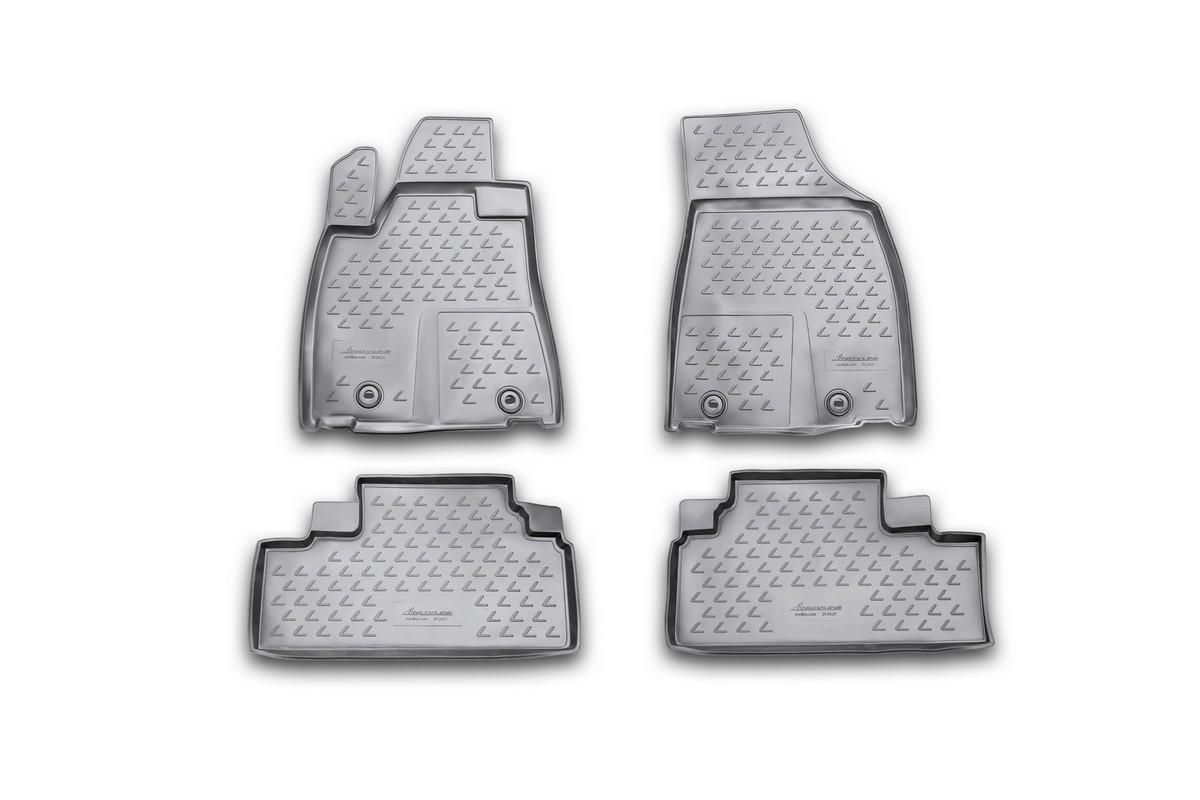 Коврики в салон автомобиля Novline-Autofamily для Lexus RX350, 2012 -, 4 штDH2400D/ORКоврики Novline-Autofamily улучшат внешний вид салона автомобиля и надежно уберегут его от пыли, грязи и сырости, а значит, защитят кузов от коррозии. Полиуретановые коврики гладкие, приятные и не пропускает влагу. Полиуретановые автомобильные коврики произведены из высококачественного материала, который держит форму и не пачкает обувь. Коврики надежно крепятся на полу и не скользят, что очень важно во время движения, особенно для водителя. Изделия из полиуретана надежно удерживают грязь и влагу, при этом всегда выглядят довольно опрятно. И чистятся они очень просто: как при помощи автомобильного пылесоса, так и различными моющими средствами.