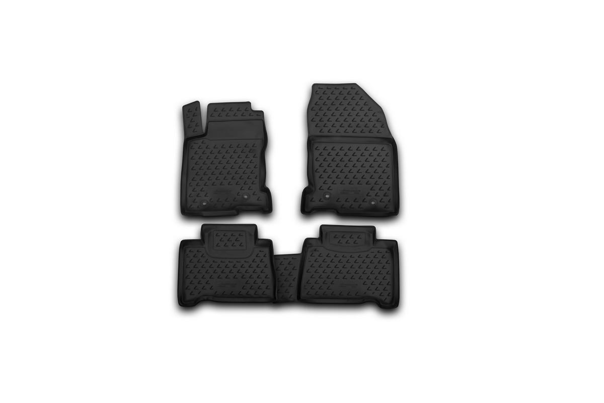 Набор автомобильных ковриков Novline-Autofamily для Lexus NX 2014-, в салон, 4 штCARLD00001kНабор автомобильных ковриков Novline-Autofamily, изготовленный из полиуретана, состоит из 4 ковриков, которые учитывают все особенности каждой модели автомобиля и полностью повторяют контуры пола. Полиуретановые автомобильные коврики для салона произведены из высококачественного материала, который держит форму, прочный и не пачкает обувь. Коврики в салон не только улучшат внешний вид салона вашего автомобиля, но и надежно уберегут его от пыли, грязи и сырости, а значит, защитят кузов от коррозии. Полиуретановые коврики для автомобиля гладкие, приятные и не пропускают влагу. Ковры для автомобилей надежно крепятся на полу и не скользят, что очень важно во время движения. Чистятся коврики очень просто: как при помощи автомобильного пылесоса, так и различными моющими средствами. Набор подходит для Lexus NX с 2014 года выпуска.