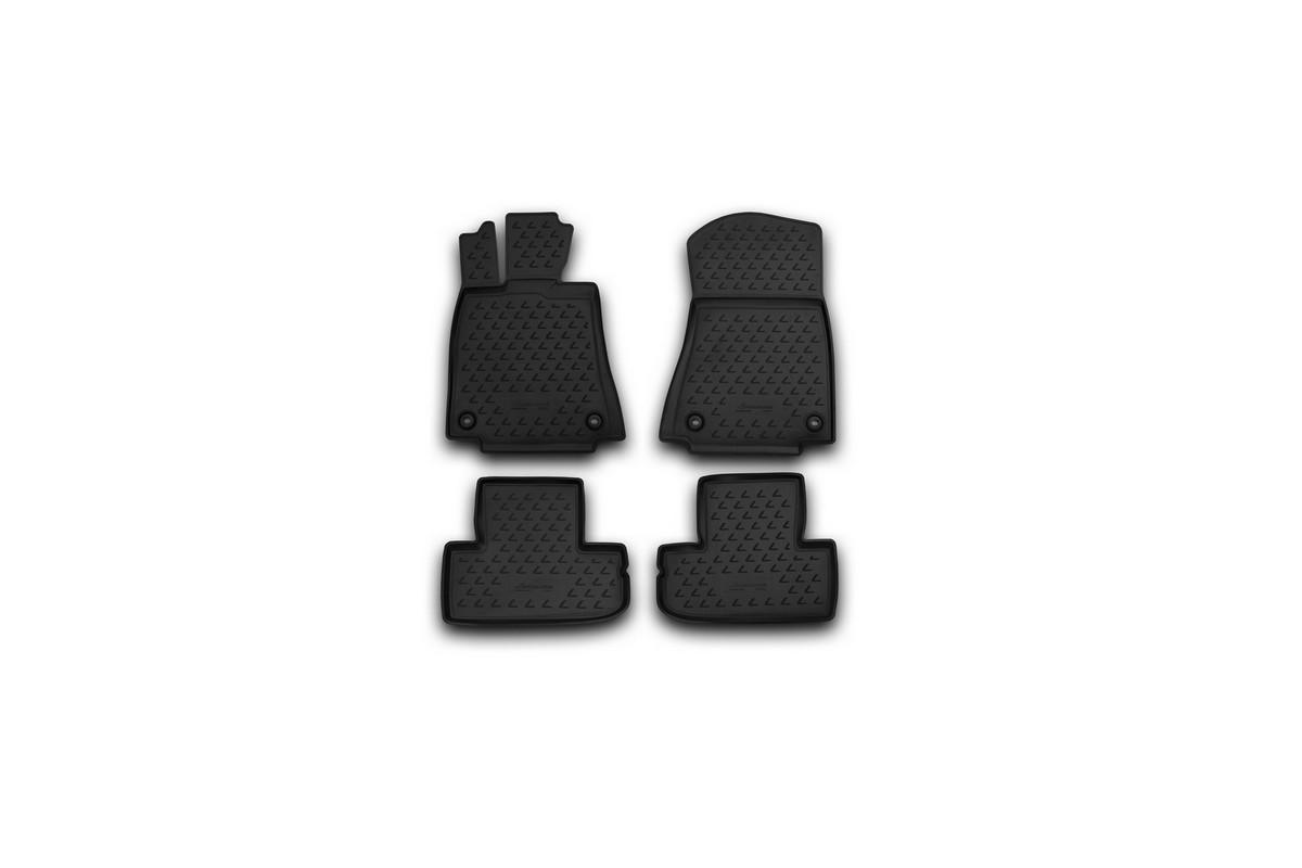 Набор автомобильных ковриков Novline-Autofamily для Lexus RC 350 04/2015-, в салон, 4 штSC-FD421005Набор автомобильных ковриков Novline-Autofamily, изготовленный из полиуретана, состоит из 4 ковриков, которые учитывают все особенности каждой модели автомобиля и полностью повторяют контуры пола. Полиуретановые автомобильные коврики для салона произведены из высококачественного материала, который держит форму, прочный и не пачкает обувь. Коврики в салон не только улучшат внешний вид салона вашего автомобиля, но и надежно уберегут его от пыли, грязи и сырости, а значит, защитят кузов от коррозии. Полиуретановые коврики для автомобиля гладкие, приятные и не пропускают влагу. Ковры для автомобилей надежно крепятся на полу и не скользят, что очень важно во время движения. Чистятся коврики очень просто: как при помощи автомобильного пылесоса, так и различными моющими средствами. Набор подходит для Lexus RC 350 с апреля 2015 года выпуска.