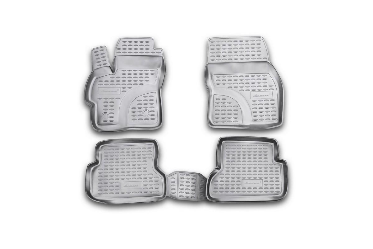 Набор автомобильных ковриков Novline-Autofamily для Mazda 3 2003-2009, в салон, 4 шт. NLC.33.01.210k21395598Набор автомобильных ковриков Novline-Autofamily, изготовленный из полиуретана, состоит из 4 ковриков, которые учитывают все особенности каждой модели автомобиля и полностью повторяют контуры пола. Полиуретановые автомобильные коврики для салона произведены из высококачественного материала, который держит форму, прочный и не пачкает обувь. Коврики в салон не только улучшат внешний вид салона вашего автомобиля, но и надежно уберегут его от пыли, грязи и сырости, а значит, защитят кузов от коррозии. Полиуретановые коврики для автомобиля гладкие, приятные и не пропускают влагу. Ковры для автомобилей надежно крепятся на полу и не скользят, что очень важно во время движения. Чистятся коврики очень просто: как при помощи автомобильного пылесоса, так и различными моющими средствами. Набор подходит для Mazda 3 2003-2009 годов выпуска.