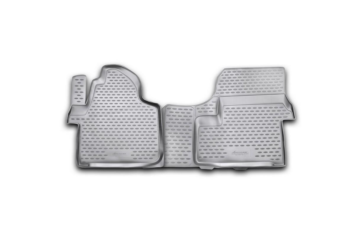 Набор автомобильных ковриков Novline-Autofamily для Mercedes-Benz Sprinter 2006-2013, в салон, 2 шт54 009318Набор автомобильных ковриков Novline-Autofamily, изготовленный из полиуретана, состоит из 2 ковриков, которые учитывают все особенности каждой модели автомобиля и полностью повторяют контуры пола. Полиуретановые автомобильные коврики для салона произведены из высококачественного материала, который держит форму, прочный и не пачкает обувь. Коврики в салон не только улучшат внешний вид салона вашего автомобиля, но и надежно уберегут его от пыли, грязи и сырости, а значит, защитят кузов от коррозии. Полиуретановые коврики для автомобиля гладкие, приятные и не пропускают влагу. Ковры для автомобилей надежно крепятся на полу и не скользят, что очень важно во время движения. Чистятся коврики очень просто: как при помощи автомобильного пылесоса, так и различными моющими средствами. Набор подходит для Mercedes-Benz Sprinter 2006-2013 годов выпуска.