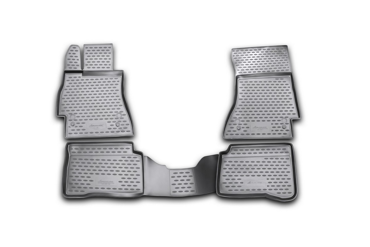 Набор автомобильных ковриков Novline-Autofamily для Mercedes-Benz S-Klasse W221 2005-, в салон, 4 шт94672Набор автомобильных ковриков Novline-Autofamily, изготовленный из полиуретана, состоит из 4 ковриков, которые учитывают все особенности каждой модели автомобиля и полностью повторяют контуры пола. Полиуретановые автомобильные коврики для салона произведены из высококачественного материала, который держит форму, прочный и не пачкает обувь. Коврики в салон не только улучшат внешний вид салона вашего автомобиля, но и надежно уберегут его от пыли, грязи и сырости, а значит, защитят кузов от коррозии. Полиуретановые коврики для автомобиля гладкие, приятные и не пропускают влагу. Ковры для автомобилей надежно крепятся на полу и не скользят, что очень важно во время движения. Чистятся коврики очень просто: как при помощи автомобильного пылесоса, так и различными моющими средствами. Набор подходит для Mercedes-Benz S-Klasse W221 с 2005 года выпуска.
