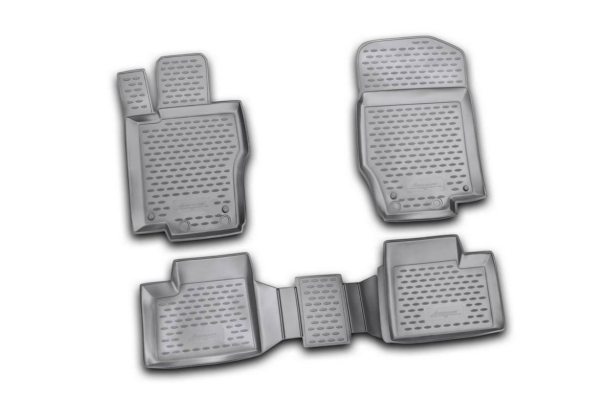 Набор автомобильных ковриков Novline-Autofamily для Mercedes-Benz M-Klasse W164 2006-, в салон, цвет: черный, 4 штВетерок 2ГФНабор автомобильных ковриков Novline-Autofamily, изготовленный из полиуретана, состоит из 4 ковриков, которые учитывают все особенности каждой модели автомобиля и полностью повторяют контуры пола. Полиуретановые автомобильные коврики для салона произведены из высококачественного материала, который держит форму, прочный и не пачкает обувь. Коврики в салон не только улучшат внешний вид салона вашего автомобиля, но и надежно уберегут его от пыли, грязи и сырости, а значит, защитят кузов от коррозии. Полиуретановые коврики для автомобиля гладкие, приятные и не пропускают влагу. Ковры для автомобилей надежно крепятся на полу и не скользят, что очень важно во время движения. Чистятся коврики очень просто: как при помощи автомобильного пылесоса, так и различными моющими средствами. Набор подходит для Mercedes-Benz M-Klasse W164 с 2006 года выпуска.