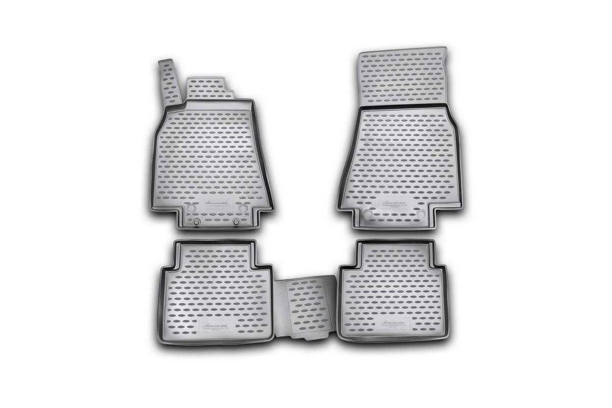 Набор автомобильных ковриков Novline-Autofamily для Mercedes-Benz B-Klasse W245 2005-, в салон, 4 штDH2400D/ORНабор автомобильных ковриков Novline-Autofamily, изготовленный из полиуретана, состоит из 4 ковриков, которые учитывают все особенности каждой модели автомобиля и полностью повторяют контуры пола. Полиуретановые автомобильные коврики для салона произведены из высококачественного материала, который держит форму, прочный и не пачкает обувь. Коврики в салон не только улучшат внешний вид салона вашего автомобиля, но и надежно уберегут его от пыли, грязи и сырости, а значит, защитят кузов от коррозии. Полиуретановые коврики для автомобиля гладкие, приятные и не пропускают влагу. Ковры для автомобилей надежно крепятся на полу и не скользят, что очень важно во время движения. Чистятся коврики очень просто: как при помощи автомобильного пылесоса, так и различными моющими средствами. Набор подходит для Mercedes-Benz B-Klasse W245 с 2005 года выпуска.