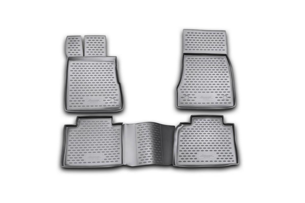 Набор автомобильных ковриков Novline-Autofamily для Mercedes-Benz S-Klasse W220 long 1998-2005, в салон, 4 шт94672Набор автомобильных ковриков Novline-Autofamily, изготовленный из полиуретана, состоит из 4 ковриков, которые учитывают все особенности каждой модели автомобиля и полностью повторяют контуры пола. Полиуретановые автомобильные коврики для салона произведены из высококачественного материала, который держит форму, прочный и не пачкает обувь. Коврики в салон не только улучшат внешний вид салона вашего автомобиля, но и надежно уберегут его от пыли, грязи и сырости, а значит, защитят кузов от коррозии. Полиуретановые коврики для автомобиля гладкие, приятные и не пропускают влагу. Ковры для автомобилей надежно крепятся на полу и не скользят, что очень важно во время движения. Чистятся коврики очень просто: как при помощи автомобильного пылесоса, так и различными моющими средствами. Набор подходит для Mercedes-Benz S-Klasse W220 long 1998-2005 годов выпуска.