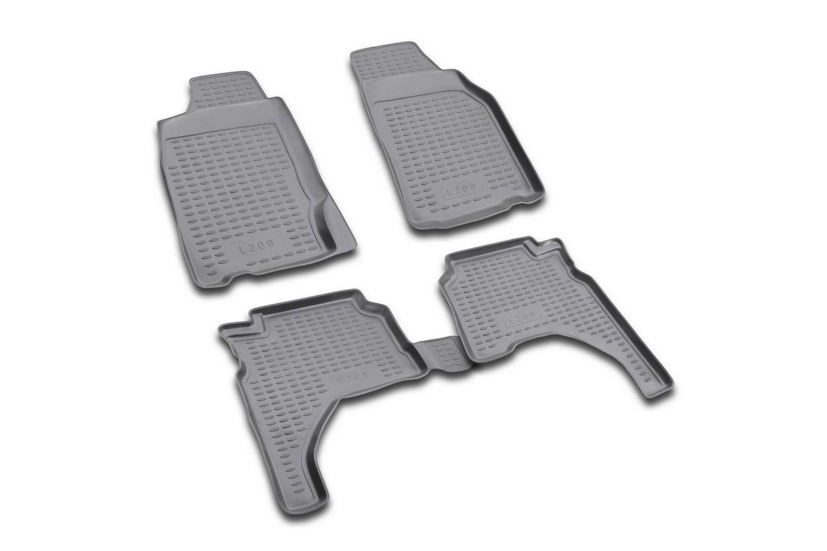 Набор автомобильных ковриков Novline-Autofamily для Mitsubishi L-200 1996-2005, в салон, 4 штNLC.35.10.210Набор автомобильных ковриков Novline-Autofamily, изготовленный из полиуретана, состоит из 4 ковриков, которые учитывают все особенности каждой модели автомобиля и полностью повторяют контуры пола. Полиуретановые автомобильные коврики для салона произведены из высококачественного материала, который держит форму, прочный и не пачкает обувь. Коврики в салон не только улучшат внешний вид салона вашего автомобиля, но и надежно уберегут его от пыли, грязи и сырости, а значит, защитят кузов от коррозии. Полиуретановые коврики для автомобиля гладкие, приятные и не пропускают влагу. Ковры для автомобилей надежно крепятся на полу и не скользят, что очень важно во время движения. Чистятся коврики очень просто: как при помощи автомобильного пылесоса, так и различными моющими средствами. Набор подходит для Mitsubishi L-200 1996-2005 годов выпуска.