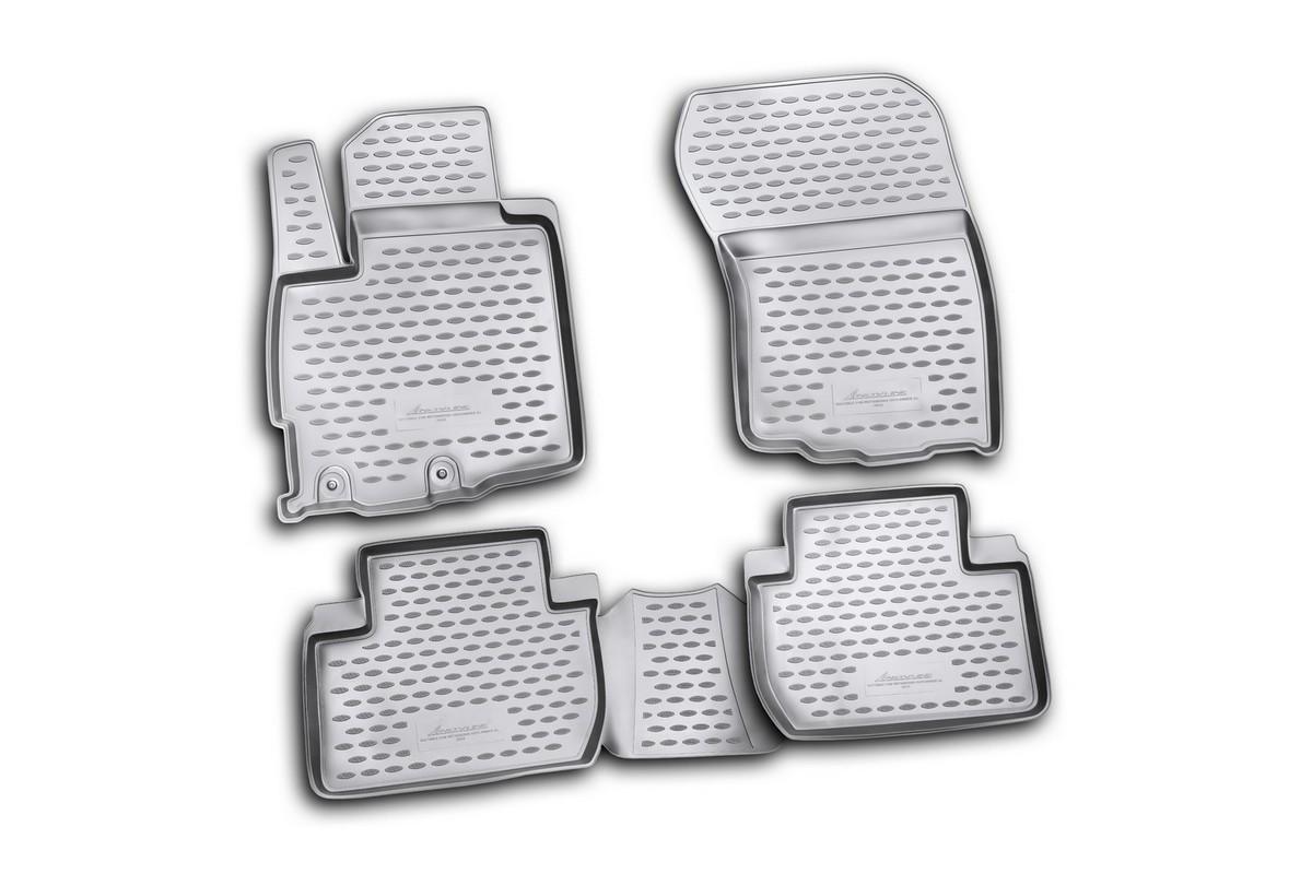 Коврики в салон автомобиля Novline-Autofamily для Mitsubishi Outlander XL, 2010 -, 4 шт98298130Коврики Novline-Autofamily улучшат внешний вид салона автомобиля и надежно уберегут его от пыли, грязи и сырости, а значит, защитят кузов от коррозии. Полиуретановые коврики гладкие, приятные и не пропускает влагу. Полиуретановые автомобильные коврики произведены из высококачественного материала, который держит форму и не пачкает обувь. Коврики надежно крепятся на полу и не скользят, что очень важно во время движения, особенно для водителя. Изделия из полиуретана надежно удерживают грязь и влагу, при этом всегда выглядят довольно опрятно. И чистятся они очень просто: как при помощи автомобильного пылесоса, так и различными моющими средствами.