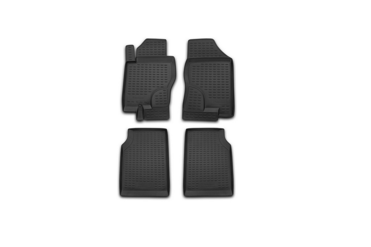 Набор автомобильных ковриков Novline-Autofamily для Nissan Navara МКПП 2005-, в салон, 4 шт. NLC.36.19.210Аксион Т-33Набор автомобильных ковриков Novline-Autofamily, изготовленный из полиуретана, состоит из 4 ковриков, которые учитывают все особенности каждой модели автомобиля и полностью повторяют контуры пола. Полиуретановые автомобильные коврики для салона произведены из высококачественного материала, который держит форму, прочный и не пачкает обувь. Коврики в салон не только улучшат внешний вид салона вашего автомобиля, но и надежно уберегут его от пыли, грязи и сырости, а значит, защитят кузов от коррозии. Полиуретановые коврики для автомобиля гладкие, приятные и не пропускают влагу. Ковры для автомобилей надежно крепятся на полу и не скользят, что очень важно во время движения. Чистятся коврики очень просто: как при помощи автомобильного пылесоса, так и различными моющими средствами. Набор подходит для Nissan Navara МКПП с 2005 года выпуска.