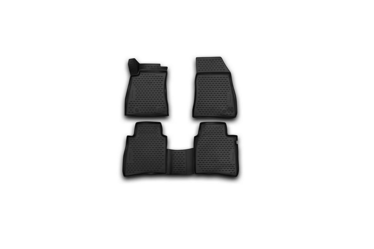 Набор автомобильных 3D-ковриков Novline-Autofamily, для Nissan Tiida, 2015-, 4 штNLC.36.56.210kНабор Novline-Autofamily состоит из 4 ковриков, изготовленных из полиуретана.Основная функция ковров - защита салона автомобиля от загрязнения и влаги. Это достигается за счет высоких бортов, перемычки на тоннель заднего ряда сидений, элементов формы и текстуры, свойств материала, а также запатентованной технологией 3D-перемычки в зоне отдыха ноги водителя, что обеспечивает дополнительную защиту, сохраняя салон автомобиля в первозданном виде.Материал, из которого сделаны коврики, обладает антискользящими свойствами. Для фиксации ковров в салоне автомобиля в комплекте с ними используются специальные крепежи. Форма передней части водительского ковра, уходящая под педаль акселератора, исключает нештатное заедание педалей.