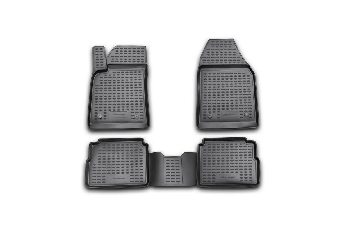 Набор автомобильных ковриков Novline-Autofamily для Opel Vectra 2003-2008, универсал, в салон, 4 шт. NLC.37.15.210kUdd500leНабор автомобильных ковриков Novline-Autofamily, изготовленный из полиуретана, состоит из 4 ковриков, которые учитывают все особенности каждой модели автомобиля и полностью повторяют контуры пола. Полиуретановые автомобильные коврики для салона произведены из высококачественного материала, который держит форму, прочный и не пачкает обувь. Коврики в салон не только улучшат внешний вид салона вашего автомобиля, но и надежно уберегут его от пыли, грязи и сырости, а значит, защитят кузов от коррозии. Полиуретановые коврики для автомобиля гладкие, приятные и не пропускают влагу. Ковры для автомобилей надежно крепятся на полу и не скользят, что очень важно во время движения. Чистятся коврики очень просто: как при помощи автомобильного пылесоса, так и различными моющими средствами. Набор подходит для Opel Vectra универсал 2003-2008 годов выпуска.