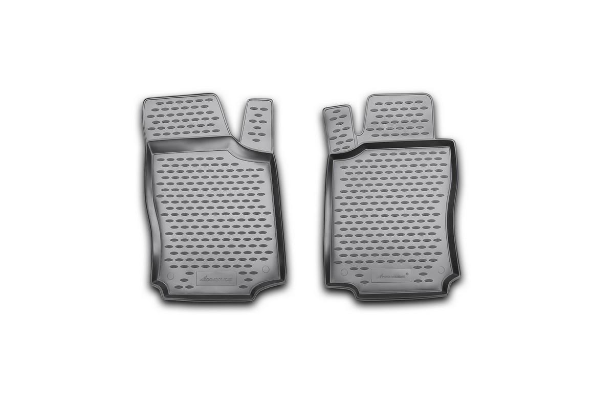 Набор автомобильных ковриков Novline-Autofamily для Opel Combo 2001-, в салон, 2 штCARPGT00001Набор автомобильных ковриков Novline-Autofamily, изготовленный из полиуретана, состоит из 2 ковриков, которые учитывают все особенности каждой модели автомобиля и полностью повторяют контуры пола. Полиуретановые автомобильные коврики для салона произведены из высококачественного материала, который держит форму, прочный и не пачкает обувь. Коврики в салон не только улучшат внешний вид салона вашего автомобиля, но и надежно уберегут его от пыли, грязи и сырости, а значит, защитят кузов от коррозии. Полиуретановые коврики для автомобиля гладкие, приятные и не пропускают влагу. Ковры для автомобилей надежно крепятся на полу и не скользят, что очень важно во время движения. Чистятся коврики очень просто: как при помощи автомобильного пылесоса, так и различными моющими средствами. Набор подходит для Opel Combo c 2001 года выпуска.