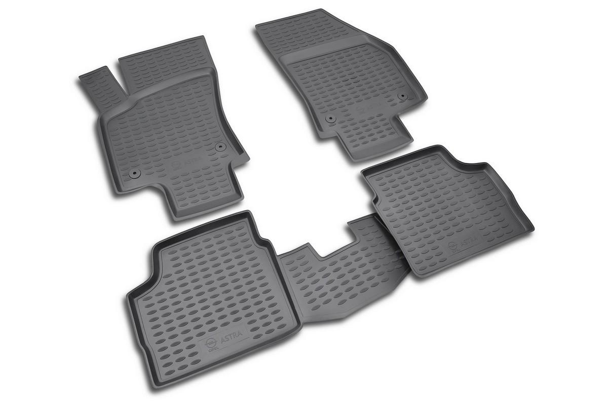 Коврики в салон автомобиля Novline-Autofamily, для OPEL Astra H 2007-, седан, 4 штDH2400D/ORКоврики Novline-Autofamily улучшат внешний вид салона автомобиля и надежно уберегут его от пыли, грязи и сырости, а значит, защитят кузов от коррозии. Полиуретановые коврики гладкие, приятные и не пропускает влагу.Полиуретановые автомобильные коврики произведены из высококачественного материала, который держит форму и не пачкает обувь.Коврики надежно крепятся на полу и не скользят, что очень важно во время движения, особенно для водителя.Изделия из полиуретана надежно удерживают грязь и влагу, при этом всегда выглядят довольно опрятно. И чистится они очень просто: как при помощи автомобильного пылесоса, так и различными моющими средствами.