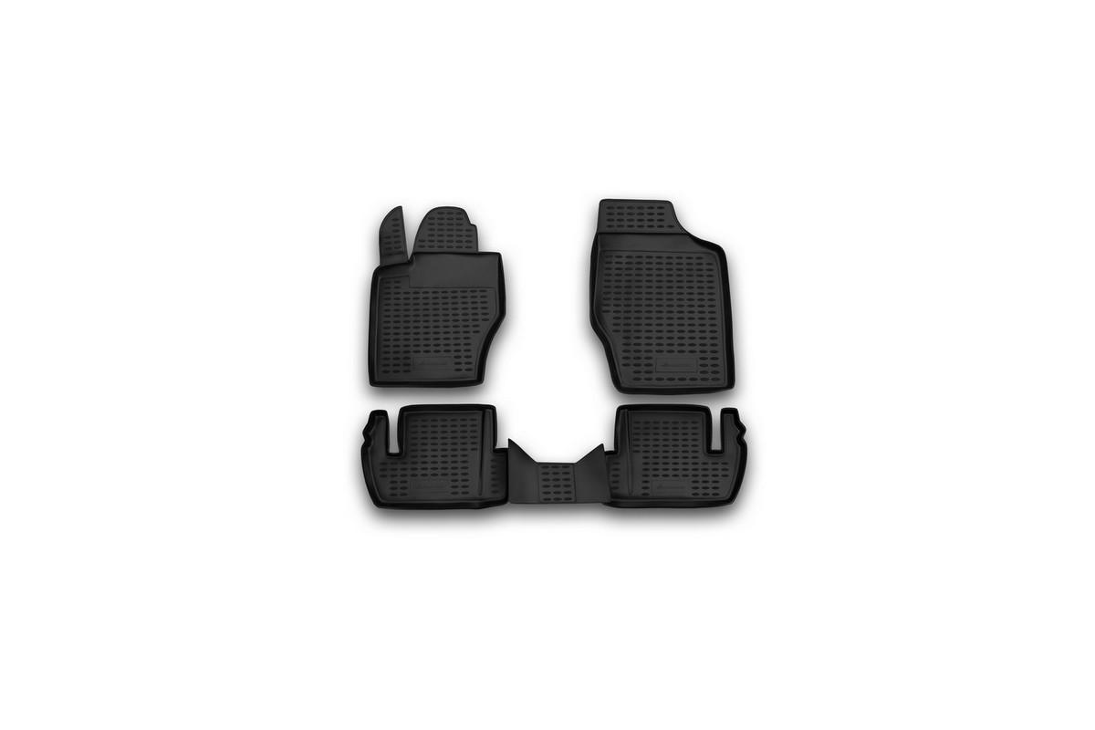 Набор автомобильных ковриков Novline-Autofamily для Peugeot 307 2001-2008-, в салон, 4 шт80621Набор автомобильных ковриков Novline-Autofamily, изготовленный из полиуретана, состоит из 4 ковриков, которые учитывают все особенности каждой модели автомобиля и полностью повторяют контуры пола. Полиуретановые автомобильные коврики для салона произведены из высококачественного материала, который держит форму, прочный и не пачкает обувь. Коврики в салон не только улучшат внешний вид салона вашего автомобиля, но и надежно уберегут его от пыли, грязи и сырости, а значит, защитят кузов от коррозии. Полиуретановые коврики для автомобиля гладкие, приятные и не пропускают влагу. Ковры для автомобилей надежно крепятся на полу и не скользят, что очень важно во время движения. Чистятся коврики очень просто: как при помощи автомобильного пылесоса, так и различными моющими средствами. Набор подходит для Peugeot 307 с 2001-2008 и позднее годов выпуска.