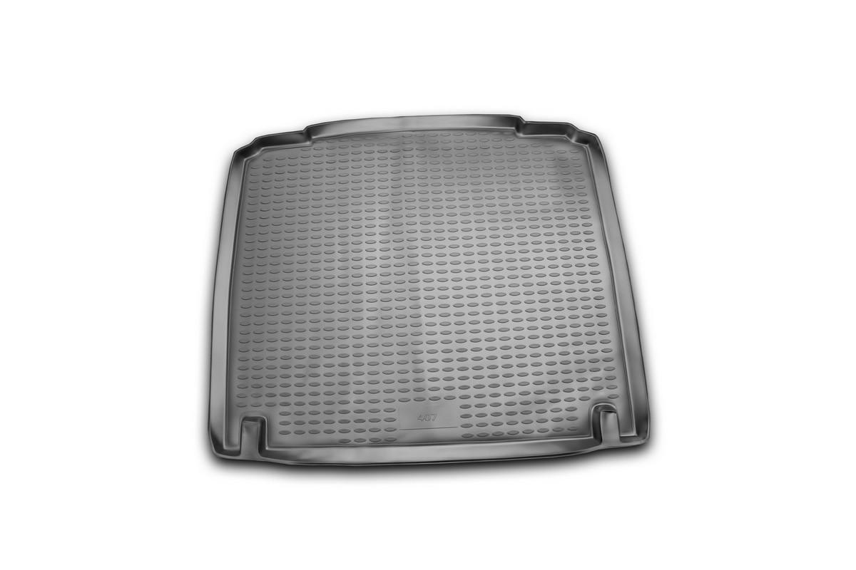 Коврик автомобильный Novline-Autofamily для Peugeot 407 седан 2004-, в багажникВетерок 2ГФАвтомобильный коврик Novline-Autofamily, изготовленный из полиуретана, позволит вам без особых усилий содержать в чистоте багажный отсек вашего авто и при этом перевозить в нем абсолютно любые грузы. Этот модельный коврик идеально подойдет по размерам багажнику вашего автомобиля. Такой автомобильный коврик гарантированно защитит багажник от грязи, мусора и пыли, которые постоянно скапливаются в этом отсеке. А кроме того, поддон не пропускает влагу. Все это надолго убережет важную часть кузова от износа. Коврик в багажнике сильно упростит для вас уборку. Согласитесь, гораздо проще достать и почистить один коврик, нежели весь багажный отсек. Тем более, что поддон достаточно просто вынимается и вставляется обратно. Мыть коврик для багажника из полиуретана можно любыми чистящими средствами или просто водой. При этом много времени у вас уборка не отнимет, ведь полиуретан устойчив к загрязнениям.Если вам приходится перевозить в багажнике тяжелые грузы, за сохранность коврика можете не беспокоиться. Он сделан из прочного материала, который не деформируется при механических нагрузках и устойчив даже к экстремальным температурам. А кроме того, коврик для багажника надежно фиксируется и не сдвигается во время поездки, что является дополнительной гарантией сохранности вашего багажа.Коврик имеет форму и размеры, соответствующие модели данного автомобиля.