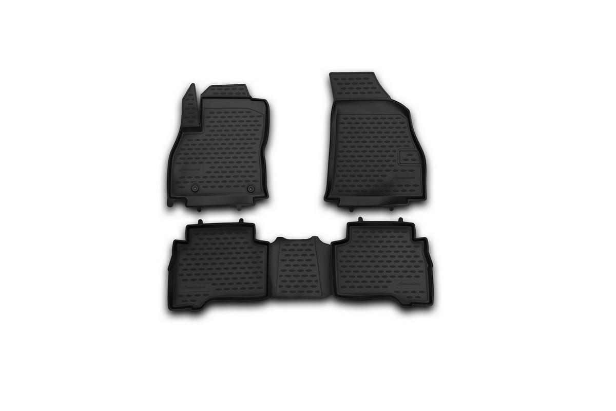 Набор автомобильных ковриков Novline-Autofamily для Peugeot Bipper 2008-, в салон, 4 шт12803008Набор автомобильных ковриков Novline-Autofamily, изготовленный из полиуретана, состоит из 4 ковриков, которые учитывают все особенности каждой модели автомобиля и полностью повторяют контуры пола. Полиуретановые автомобильные коврики для салона произведены из высококачественного материала, который держит форму, прочный и не пачкает обувь. Коврики в салон не только улучшат внешний вид салона вашего автомобиля, но и надежно уберегут его от пыли, грязи и сырости, а значит, защитят кузов от коррозии. Полиуретановые коврики для автомобиля гладкие, приятные и не пропускают влагу. Ковры для автомобилей надежно крепятся на полу и не скользят, что очень важно во время движения. Чистятся коврики очень просто: как при помощи автомобильного пылесоса, так и различными моющими средствами. Набор подходит для Peugeot Bipper с 2008 года выпуска.