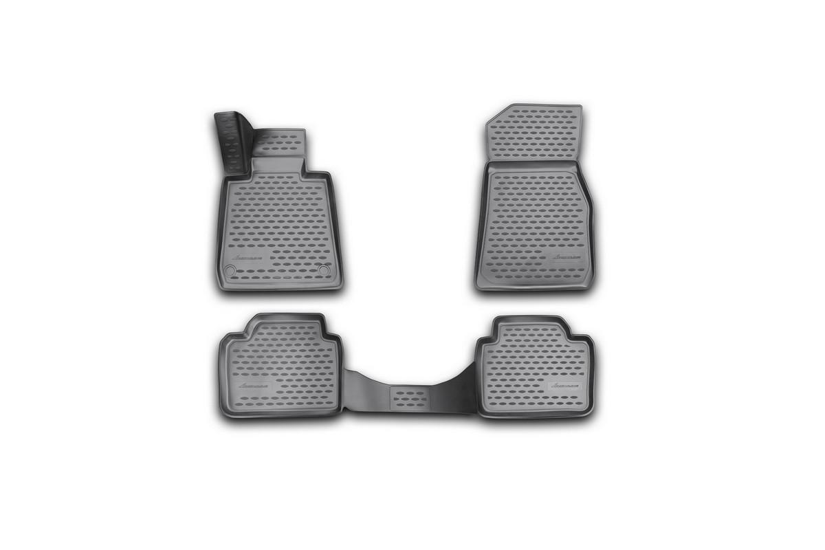 Набор автомобильных 3D-ковриков Novline-Autofamily для BMW F30, 2012->, в салон, 4 штCARFRD00019kНабор Novline-Autofamily состоит из 4 ковриков, изготовленных из полиуретана.Основная функция ковров - защита салона автомобиля от загрязнения и влаги. Это достигается за счет высоких бортов, перемычки на тоннель заднего ряда сидений, элементов формы и текстуры, свойств материала, а также запатентованной технологией 3D-перемычки в зоне отдыха ноги водителя, что обеспечивает дополнительную защиту, сохраняя салон автомобиля в первозданном виде.Материал, из которого сделаны коврики, обладает антискользящими свойствами. Для фиксации ковров в салоне автомобиля в комплекте с ними используются специальные крепежи. Форма передней части водительского ковра, уходящая под педаль акселератора, исключает нештатное заедание педалей.Набор подходит для BMW F30 с 2012 года выпуска.