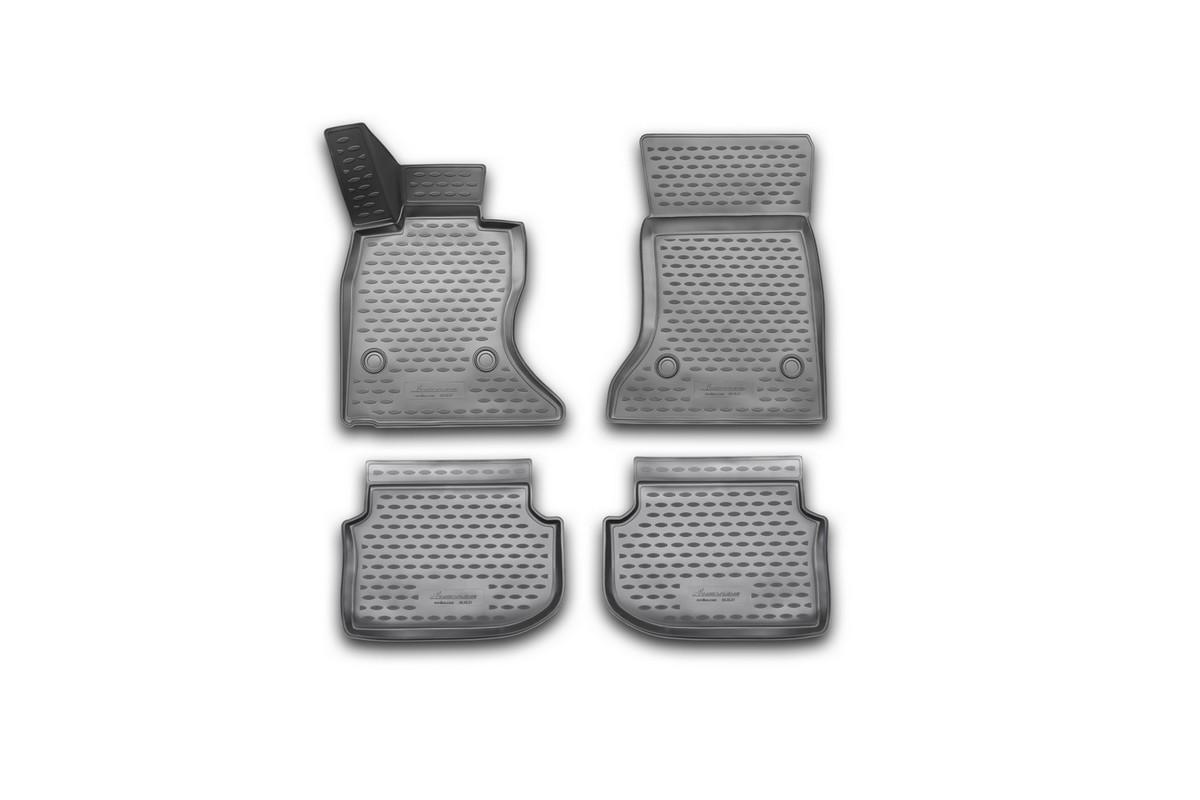 Набор автомобильных 3D-ковриков Novline-Autofamily для BMW 5 (F10), 2010-2013, в салон, 4 штa030071Набор Novline-Autofamily состоит из 4 ковриков, изготовленных из полиуретана.Основная функция ковров - защита салона автомобиля от загрязнения и влаги. Это достигается за счет высоких бортов, перемычки на тоннель заднего ряда сидений, элементов формы и текстуры, свойств материала, а также запатентованной технологией 3D-перемычки в зоне отдыха ноги водителя, что обеспечивает дополнительную защиту, сохраняя салон автомобиля в первозданном виде.Материал, из которого сделаны коврики, обладает антискользящими свойствами. Для фиксации ковров в салоне автомобиля в комплекте с ними используются специальные крепежи. Форма передней части водительского ковра, уходящая под педаль акселератора, исключает нештатное заедание педалей.Набор подходит для BMW 5 (F10)2010-2013 года выпуска.