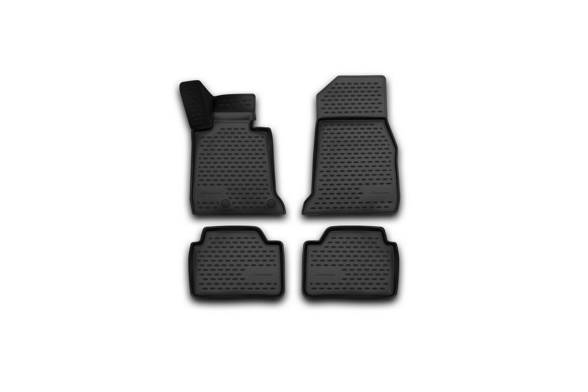 Коврики 3D в салон автомобиля Novline-Autofamily для BMW 1er (f20), 2011 -, 4 штАксион Т-33Коврики Novline-Autofamily улучшат внешний вид салона автомобиля и надежно уберегут его от пыли, грязи и сырости, а значит, защитят кузов от коррозии. Полиуретановые коврики гладкие, приятные и не пропускает влагу. Полиуретановые автомобильные коврики произведены из высококачественного материала, который держит форму и не пачкает обувь. Коврики надежно крепятся на полу и не скользят, что очень важно во время движения, особенно для водителя. Изделия из полиуретана надежно удерживают грязь и влагу, при этом всегда выглядят довольно опрятно. И чистится они очень просто: как при помощи автомобильного пылесоса, так и различными моющими средствами.