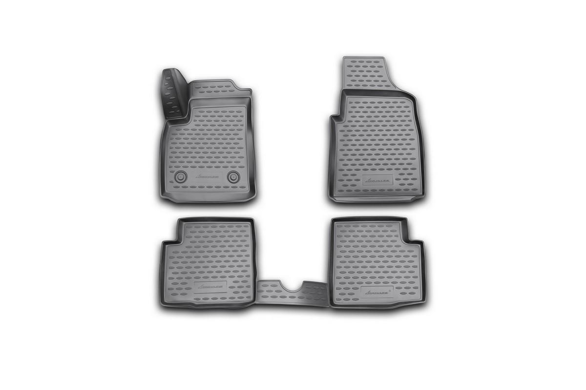 Набор автомобильных 3D-ковриков Novline-Autofamily для Ford Ka, 2008->, в салон, 4 штFS-80423Набор Novline-Autofamily состоит из 4 ковриков, изготовленных из полиуретана.Основная функция ковров - защита салона автомобиля от загрязнения и влаги. Это достигается за счет высоких бортов, перемычки на тоннель заднего ряда сидений, элементов формы и текстуры, свойств материала, а также запатентованной технологией 3D-перемычки в зоне отдыха ноги водителя, что обеспечивает дополнительную защиту, сохраняя салон автомобиля в первозданном виде.Материал, из которого сделаны коврики, обладает антискользящими свойствами. Для фиксации ковров в салоне автомобиля в комплекте с ними используются специальные крепежи. Форма передней части водительского ковра, уходящая под педаль акселератора, исключает нештатное заедание педалей.Набор подходит для Ford Ka с 2008 года выпуска.