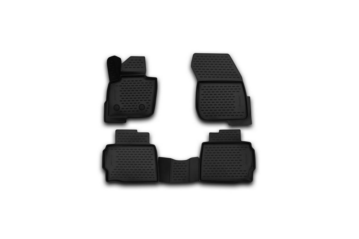 Набор автомобильных 3D-ковриков Novline-Autofamily для Ford Mondeo, 2001-2015, в салон, 4 шт2706 (ПО)Набор Novline-Autofamily состоит из 4 ковриков, изготовленных из полиуретана.Основная функция ковров — защита салона автомобиля от загрязнения и влаги. Это достигается за счет высоких бортов, перемычки на тоннель заднего ряда сидений, элементов формы и текстуры, свойств материала, а также запатентованной технологией 3D-перемычки в зоне отдыха ноги водителя, что обеспечивает дополнительную защиту, сохраняя салон автомобиля в первозданном виде.Материал, из которого сделаны коврики, обладает антискользящими свойствами. Для фиксации ковров в салоне автомобиля в комплекте с ними используются специальные крепежи. Форма передней части водительского ковра, уходящая под педаль акселератора, исключает нештатное заедание педалей.Набор подходит для Ford Mondeo 2001-2015 годов выпуска.