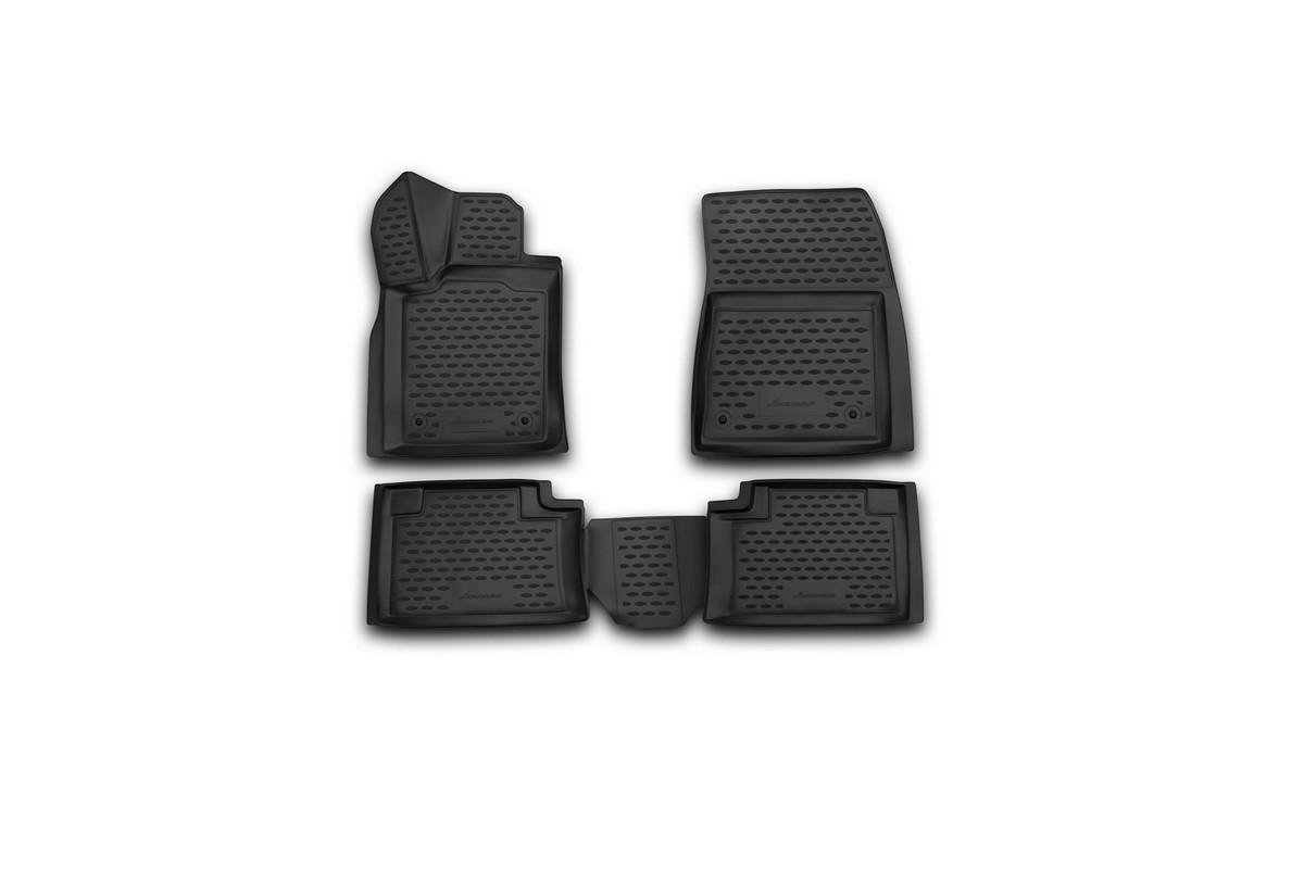 Набор автомобильных 3D-ковриков Novline-Autofamily для Jeep Grand Cherokee, 2014->, в салон, 4 штВетерок 2ГФНабор Novline-Autofamily состоит из 4 ковриков, изготовленных из полиуретана.Основная функция ковров - защита салона автомобиля от загрязнения и влаги. Это достигается за счет высоких бортов, перемычки на тоннель заднего ряда сидений, элементов формы и текстуры, свойств материала, а также запатентованной технологией 3D-перемычки в зоне отдыха ноги водителя, что обеспечивает дополнительную защиту, сохраняя салон автомобиля в первозданном виде.Материал, из которого сделаны коврики, обладает антискользящими свойствами. Для фиксации ковров в салоне автомобиля в комплекте с ними используются специальные крепежи. Форма передней части водительского ковра, уходящая под педаль акселератора, исключает нештатное заедание педалей.Набор подходит для Jeep Grand Cherokee с 2014 года выпуска.