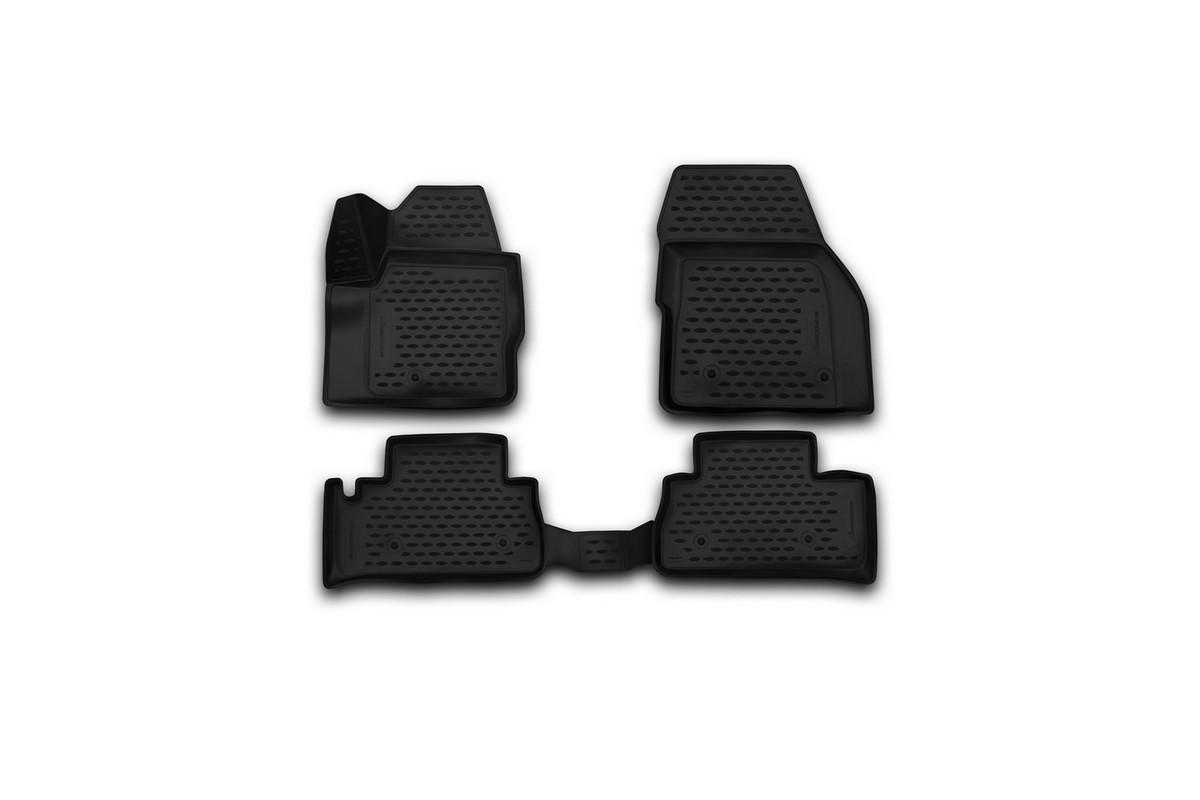 Набор автомобильных 3D-ковриков Novline-Autofamily для Land Rover Freelander 2, 2013->, в салон, 4 штВетерок 2ГФНабор Novline-Autofamily состоит из 4 ковриков, изготовленных из полиуретана.Основная функция ковров - защита салона автомобиля от загрязнения и влаги. Это достигается за счет высоких бортов, перемычки на тоннель заднего ряда сидений, элементов формы и текстуры, свойств материала, а также запатентованной технологией 3D-перемычки в зоне отдыха ноги водителя, что обеспечивает дополнительную защиту, сохраняя салон автомобиля в первозданном виде.Материал, из которого сделаны коврики, обладает антискользящими свойствами. Для фиксации ковров в салоне автомобиля в комплекте с ними используются специальные крепежи. Форма передней части водительского ковра, уходящая под педаль акселератора, исключает нештатное заедание педалей.Набор подходит для Land Rover Freelander 2 с 2013 года выпуска.