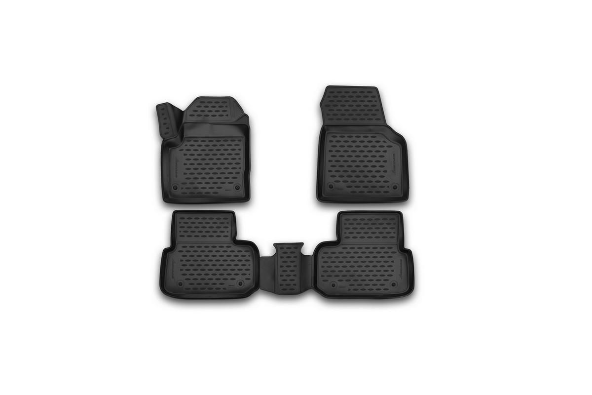 Набор автомобильных 3D-ковриков Novline-Autofamily для Land Rover Discovery Sport, 2014->, в салон, 4 штTEMP-05Набор Novline-Autofamily состоит из 4 ковриков, изготовленных из полиуретана.Основная функция ковров - защита салона автомобиля от загрязнения и влаги. Это достигается за счет высоких бортов, перемычки на тоннель заднего ряда сидений, элементов формы и текстуры, свойств материала, а также запатентованной технологией 3D-перемычки в зоне отдыха ноги водителя, что обеспечивает дополнительную защиту, сохраняя салон автомобиля в первозданном виде.Материал, из которого сделаны коврики, обладает антискользящими свойствами. Для фиксации ковров в салоне автомобиля в комплекте с ними используются специальные крепежи. Форма передней части водительского ковра, уходящая под педаль акселератора, исключает нештатное заедание педалей.Набор подходит для Land Rover Discovery Sport с 2014 года выпуска.