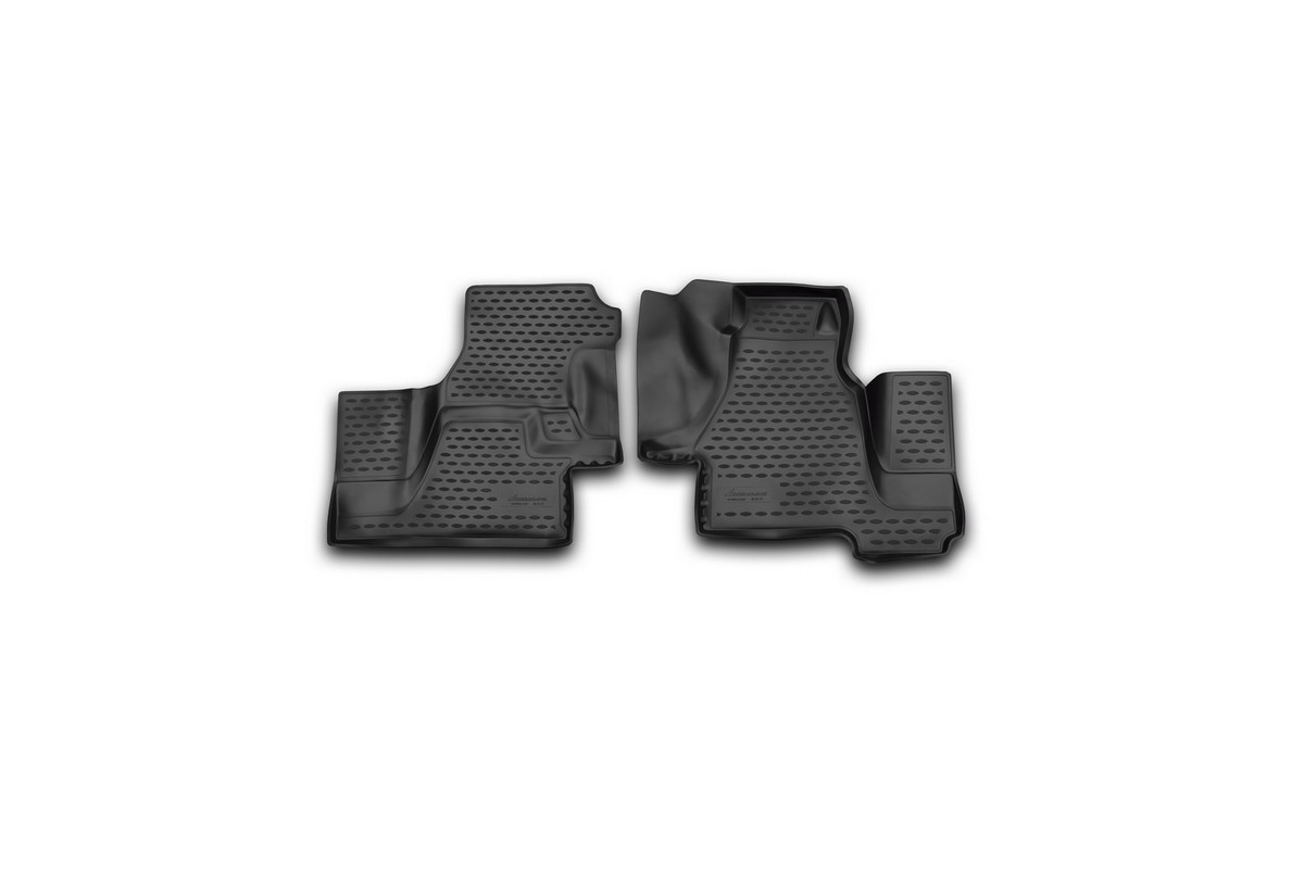 Набор автомобильных 3D-ковриков Novline-Autofamily для Mersedes-Benz Sprinter Classic (W909), 2000-2006, 2013->, в салон, 2 штDH2400D/ORНабор Novline-Autofamily состоит из 2 ковриков, изготовленных из полиуретана.Основная функция ковров - защита салона автомобиля от загрязнения и влаги. Это достигается за счет высоких бортов, перемычки на тоннель заднего ряда сидений, элементов формы и текстуры, свойств материала, а также запатентованной технологией 3D-перемычки в зоне отдыха ноги водителя, что обеспечивает дополнительную защиту, сохраняя салон автомобиля в первозданном виде.Материал, из которого сделаны коврики, обладает антискользящими свойствами. Для фиксации ковров в салоне автомобиля в комплекте с ними используются специальные крепежи. Форма передней части водительского ковра, уходящая под педаль акселератора, исключает нештатное заедание педалей.Набор подходит для Mersedes-Benz Sprinter Classic 2000-2006, 2013-> года выпуска.