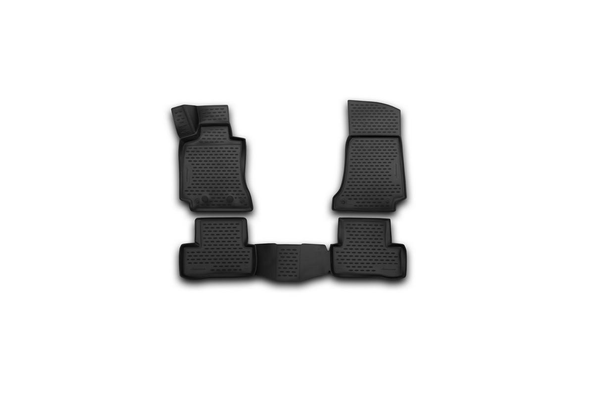 Коврики 3D в салон автомобиля Novline-Autofamily для Mercedes-Benz C-class W205, 2014 -, седан, 4 шт300159Коврики Novline-Autofamily улучшат внешний вид салона автомобиля и надежно уберегут его от пыли, грязи и сырости, а значит, защитят кузов от коррозии. Полиуретановые коврики гладкие, приятные и не пропускает влагу. Полиуретановые автомобильные коврики произведены из высококачественного материала, который держит форму и не пачкает обувь. Коврики надежно крепятся на полу и не скользят, что очень важно во время движения, особенно для водителя. Изделия из полиуретана надежно удерживают грязь и влагу, при этом всегда выглядят довольно опрятно. И чистится они очень просто: как при помощи автомобильного пылесоса, так и различными моющими средствами.