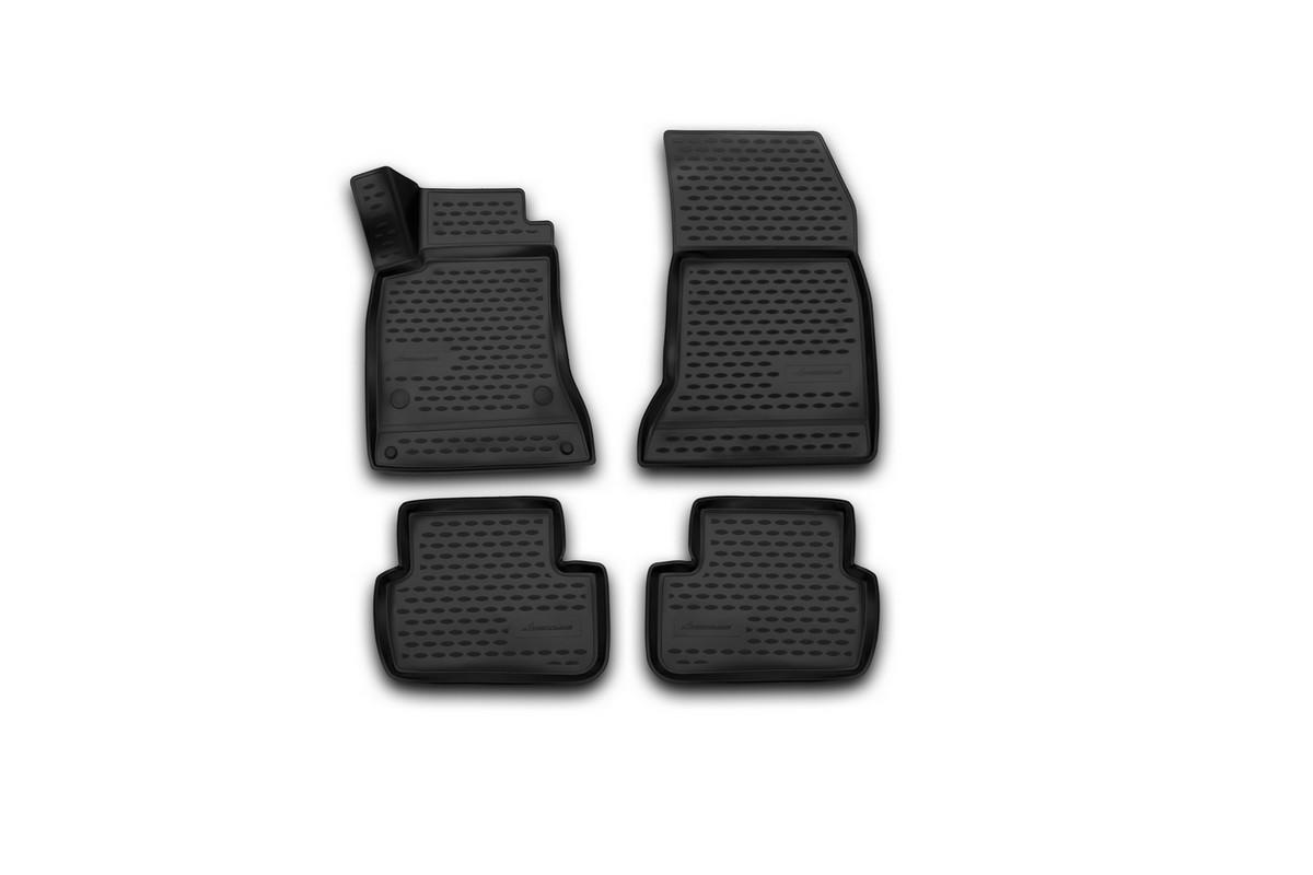 Набор автомобильных 3D-ковриков Novline-Autofamily для Mercedes-Benz B-Klass (W246), 2011->, в салон, 4 штNLC.46.14.B13Набор Novline-Autofamily состоит из 4 ковриков, изготовленных из полиуретана.Основная функция ковров - защита салона автомобиля от загрязнения и влаги. Это достигается за счет высоких бортов, перемычки на тоннель заднего ряда сидений, элементов формы и текстуры, свойств материала, а также запатентованной технологией 3D-перемычки в зоне отдыха ноги водителя, что обеспечивает дополнительную защиту, сохраняя салон автомобиля в первозданном виде.Материал, из которого сделаны коврики, обладает антискользящими свойствами. Для фиксации ковров в салоне автомобиля в комплекте с ними используются специальные крепежи. Форма передней части водительского ковра, уходящая под педаль акселератора, исключает нештатное заедание педалей.Набор подходит для Mercedes-Benz B-Class (W246) с 2011 года выпуска.