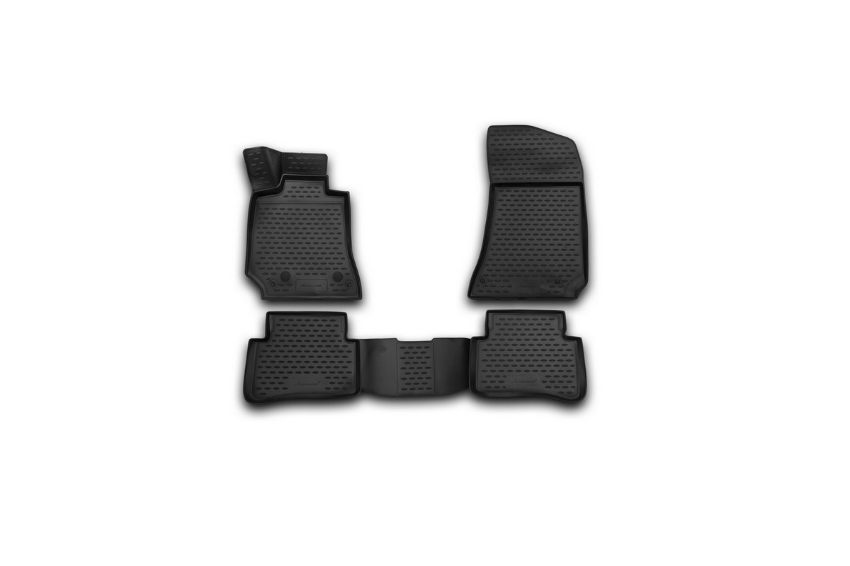 Набор автомобильных 3D-ковриков Novline-Autofamily для Mersedes-Benz E-Class (W212), 2014->, седан, в салон, 4 шт21395599Набор Novline-Autofamily состоит из 4 ковриков, изготовленных из полиуретана.Основная функция ковров - защита салона автомобиля от загрязнения и влаги. Это достигается за счет высоких бортов, перемычки на тоннель заднего ряда сидений, элементов формы и текстуры, свойств материала, а также запатентованной технологией 3D-перемычки в зоне отдыха ноги водителя, что обеспечивает дополнительную защиту, сохраняя салон автомобиля в первозданном виде.Материал, из которого сделаны коврики, обладает антискользящими свойствами. Для фиксации ковров в салоне автомобиля в комплекте с ними используются специальные крепежи. Форма передней части водительского ковра, уходящая под педаль акселератора, исключает нештатное заедание педалей.Набор подходит для Mersedes-Benz E-Class (W212) седан с 2014 года выпуска.