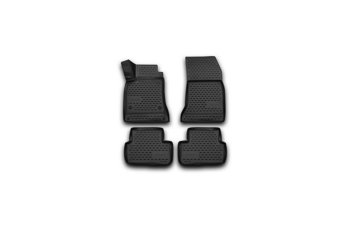 Коврики 3D в салон автомобиля Novline-Autofamily для Mercedes-Benz GLA, 2015 -, 4 штFS-80264Коврики Novline-Autofamily улучшат внешний вид салона автомобиля и надежно уберегут его от пыли, грязи и сырости, а значит, защитят кузов от коррозии. Полиуретановые коврики гладкие, приятные и не пропускает влагу. Полиуретановые автомобильные коврики произведены из высококачественного материала, который держит форму и не пачкает обувь. Коврики надежно крепятся на полу и не скользят, что очень важно во время движения, особенно для водителя. Изделия из полиуретана надежно удерживают грязь и влагу, при этом всегда выглядят довольно опрятно. И чистится они очень просто: как при помощи автомобильного пылесоса, так и различными моющими средствами.